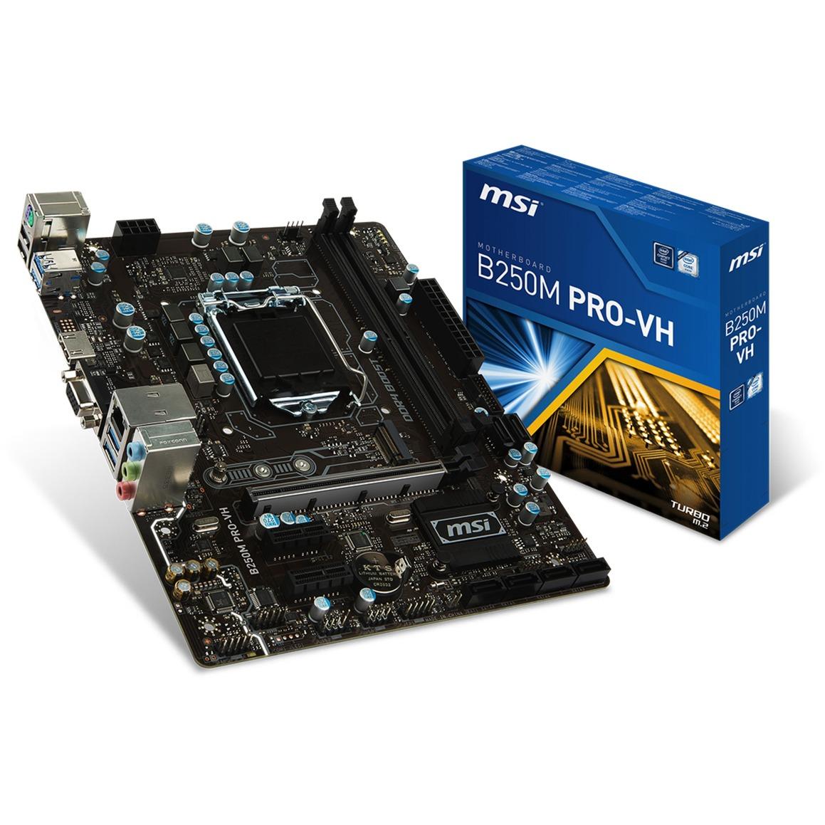 B250M PRO-VH LGA 1151 (Zócalo H4) Intel B250 micro ATX, Placa base