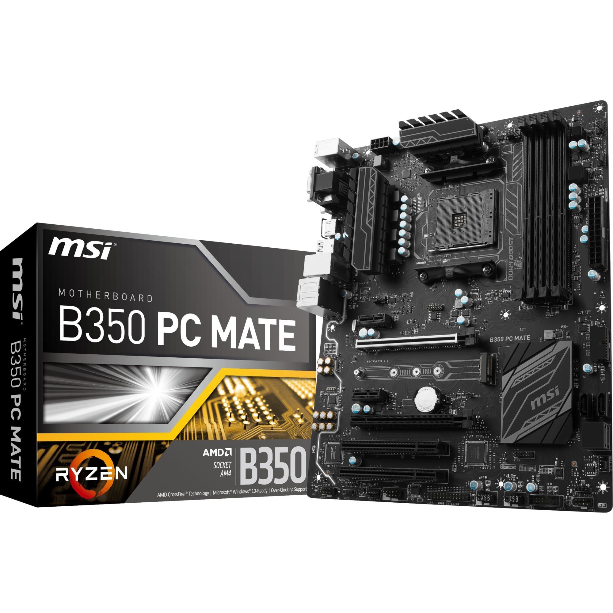 B350 PC MATE Zócalo AM4 AMD B350 ATX, Placa base