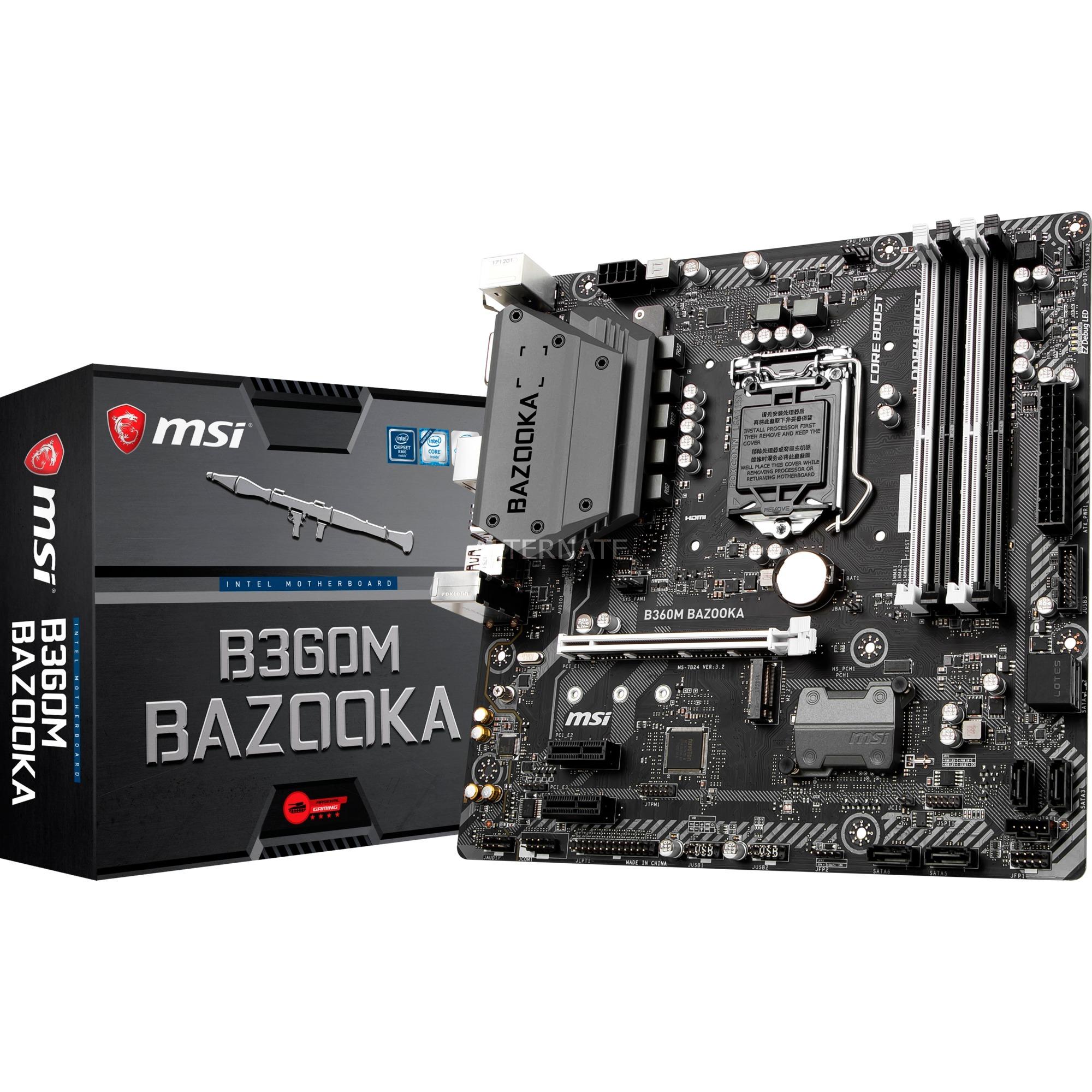 B360M BAZOOKA placa base LGA 1151 (Zócalo H4) Micro ATX Intel B360