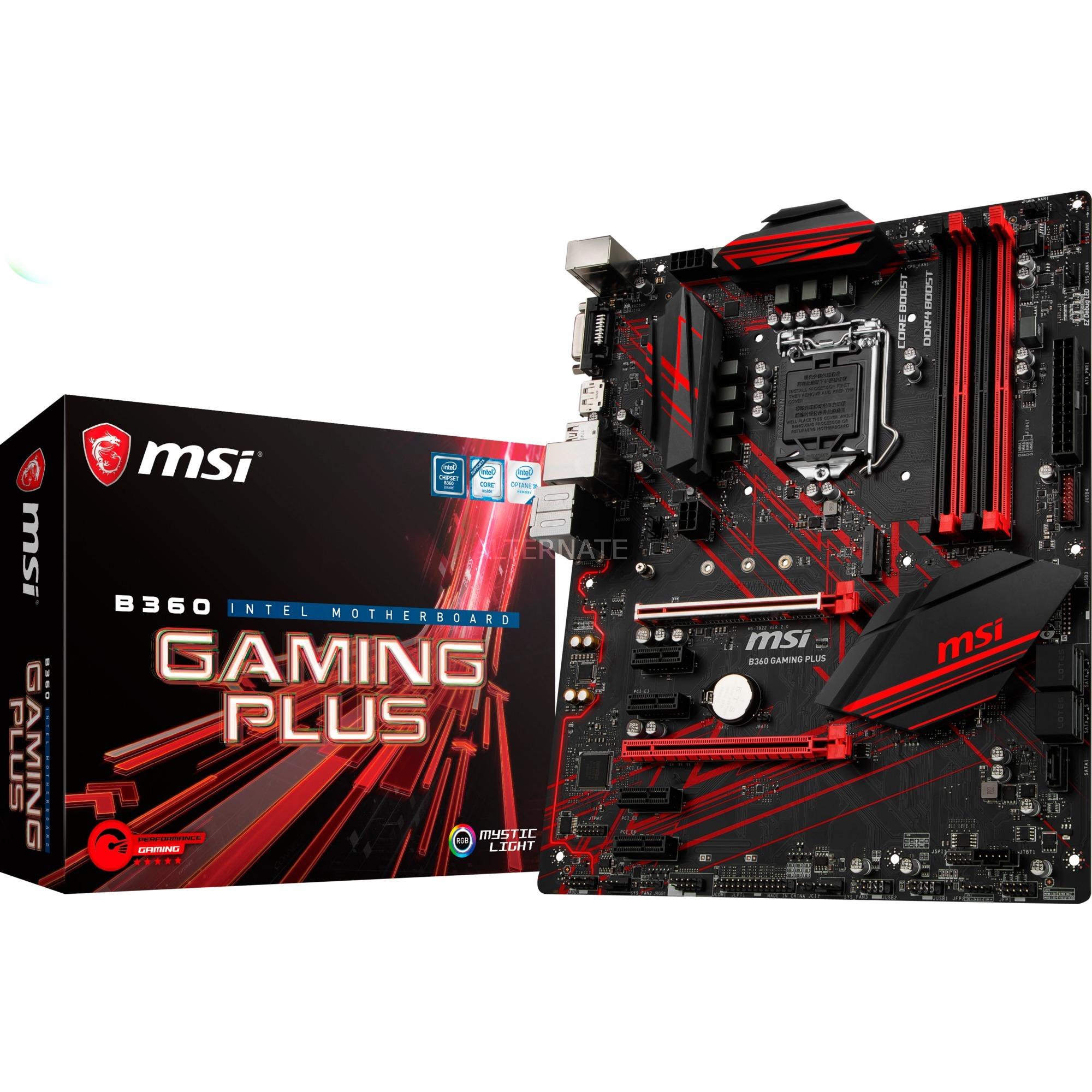 B360 GAMING PLUS LGA 1151 (Zócalo H4) Intel B360 ATX, Placa base