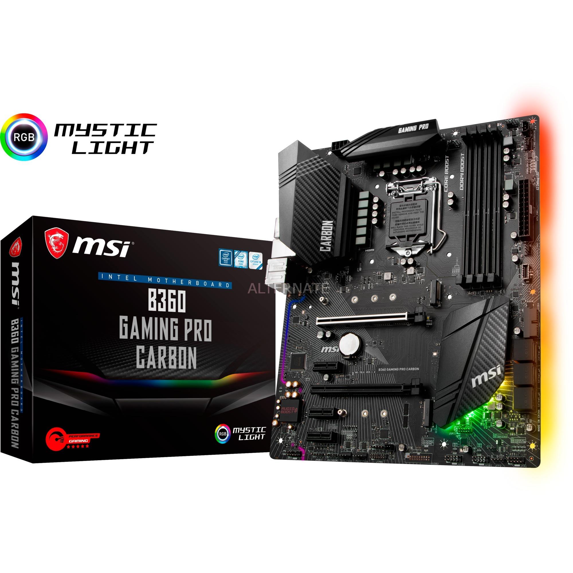 B360 GAMING PRO CARBON LGA 1151 (Zócalo H4) Intel B360 ATX, Placa base