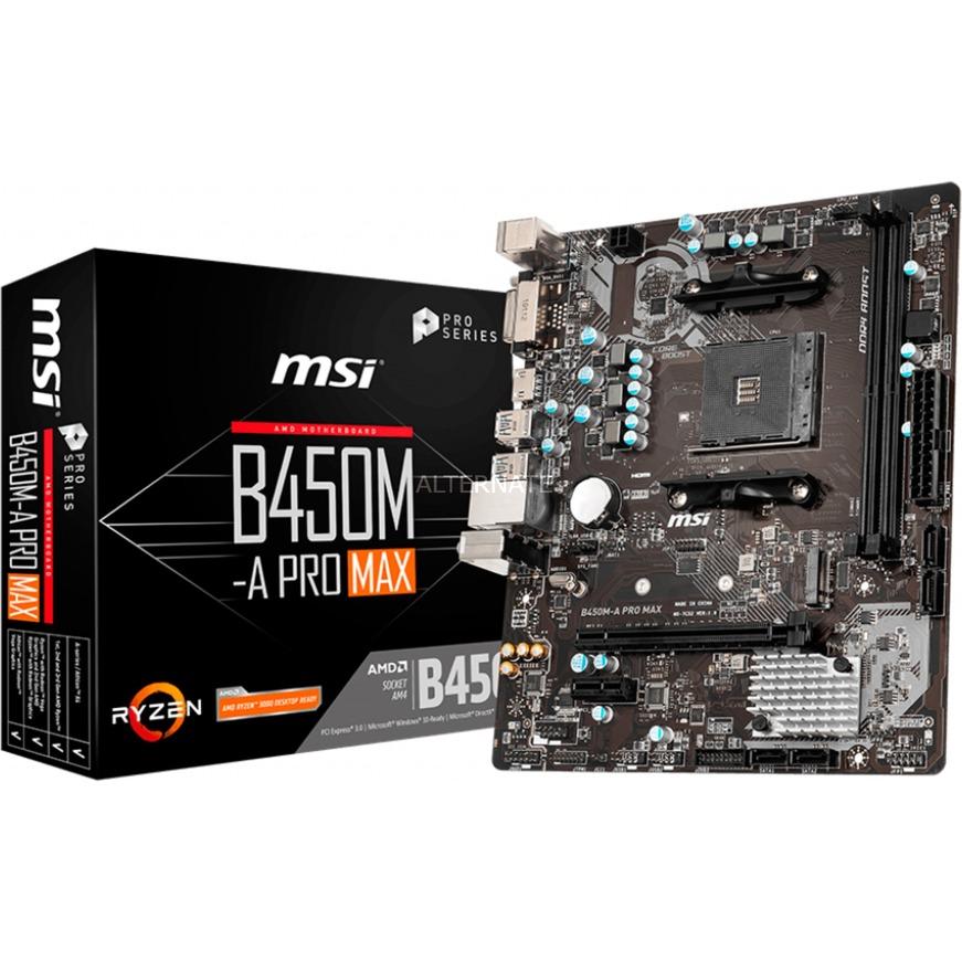 B450M-A PRO MAX placa base Zócalo AM4 Micro ATX AMD B450