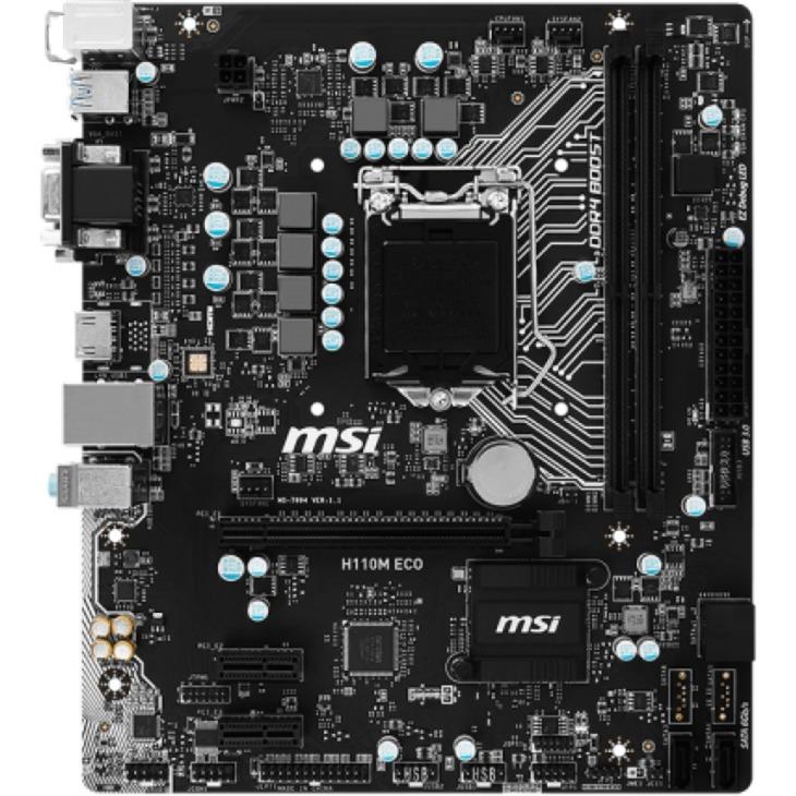 H110M ECO Intel H110 LGA 1151 (Socket H4) microATX placa base