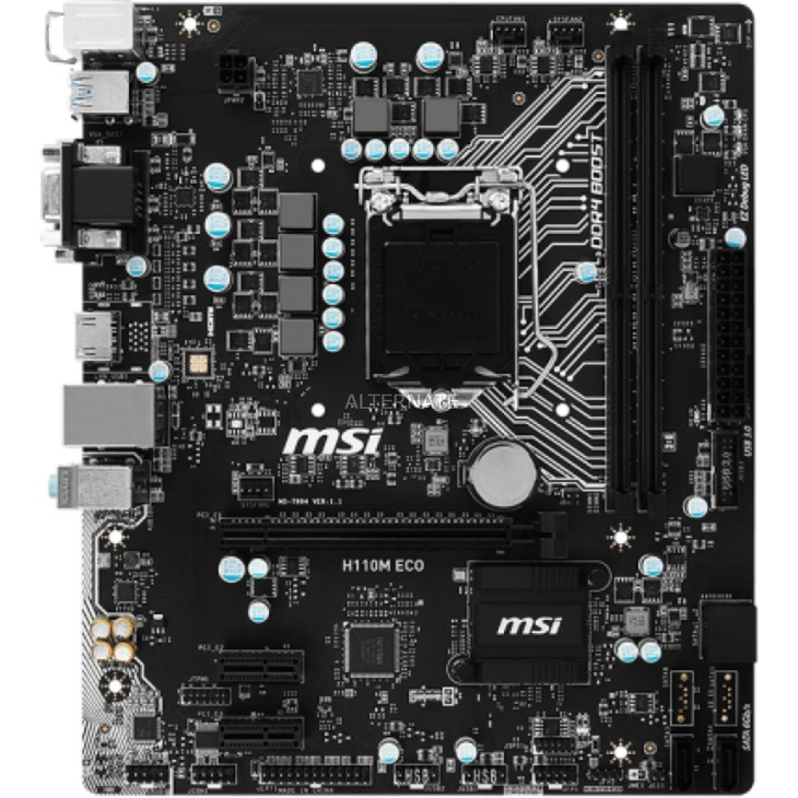 H110M ECO LGA 1151 (Zócalo H4) Intel H110 micro ATX, Placa base