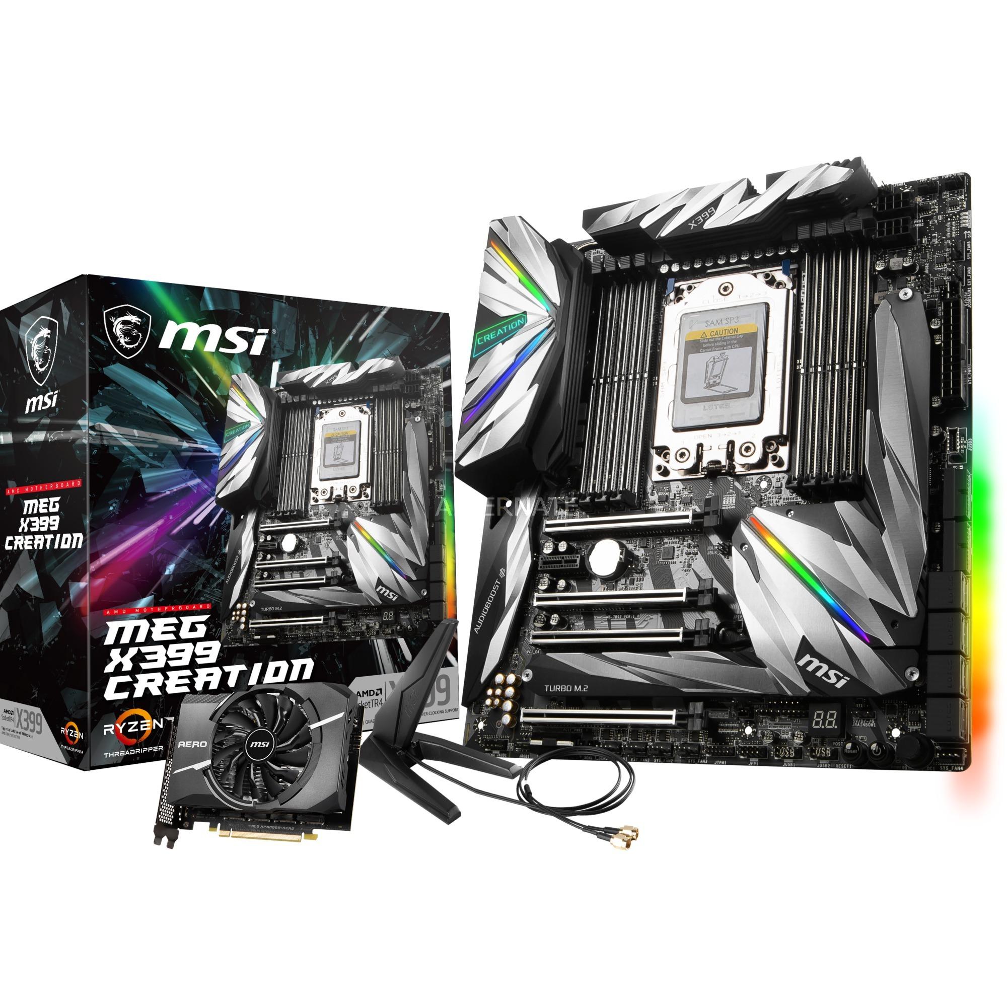 MEG X399 CREATION Socket TR4 AMD X399 ATX extendida, Placa base