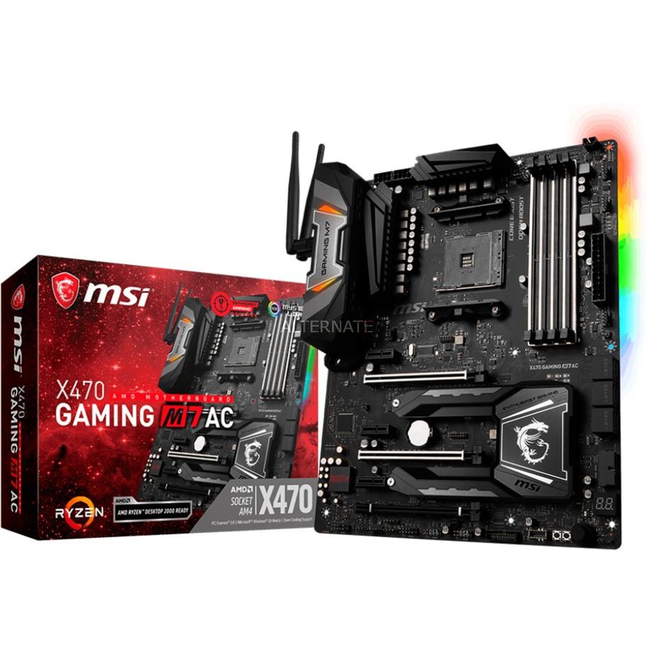 X470 Gaming M7 AC Zócalo AM4 AMD X470 ATX, Placa base