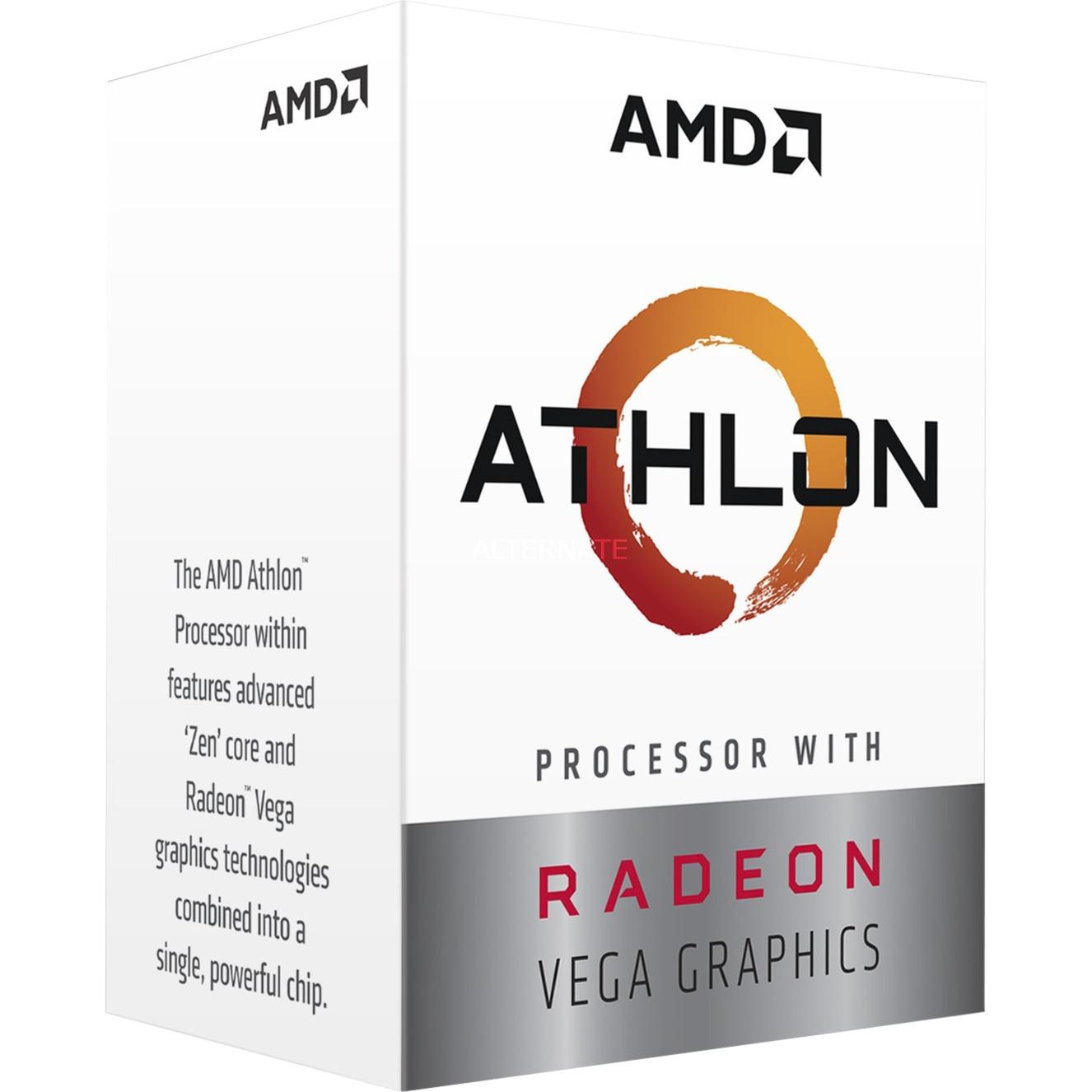 Athlon 220GE procesador 3,4 GHz Caja 4 MB L3