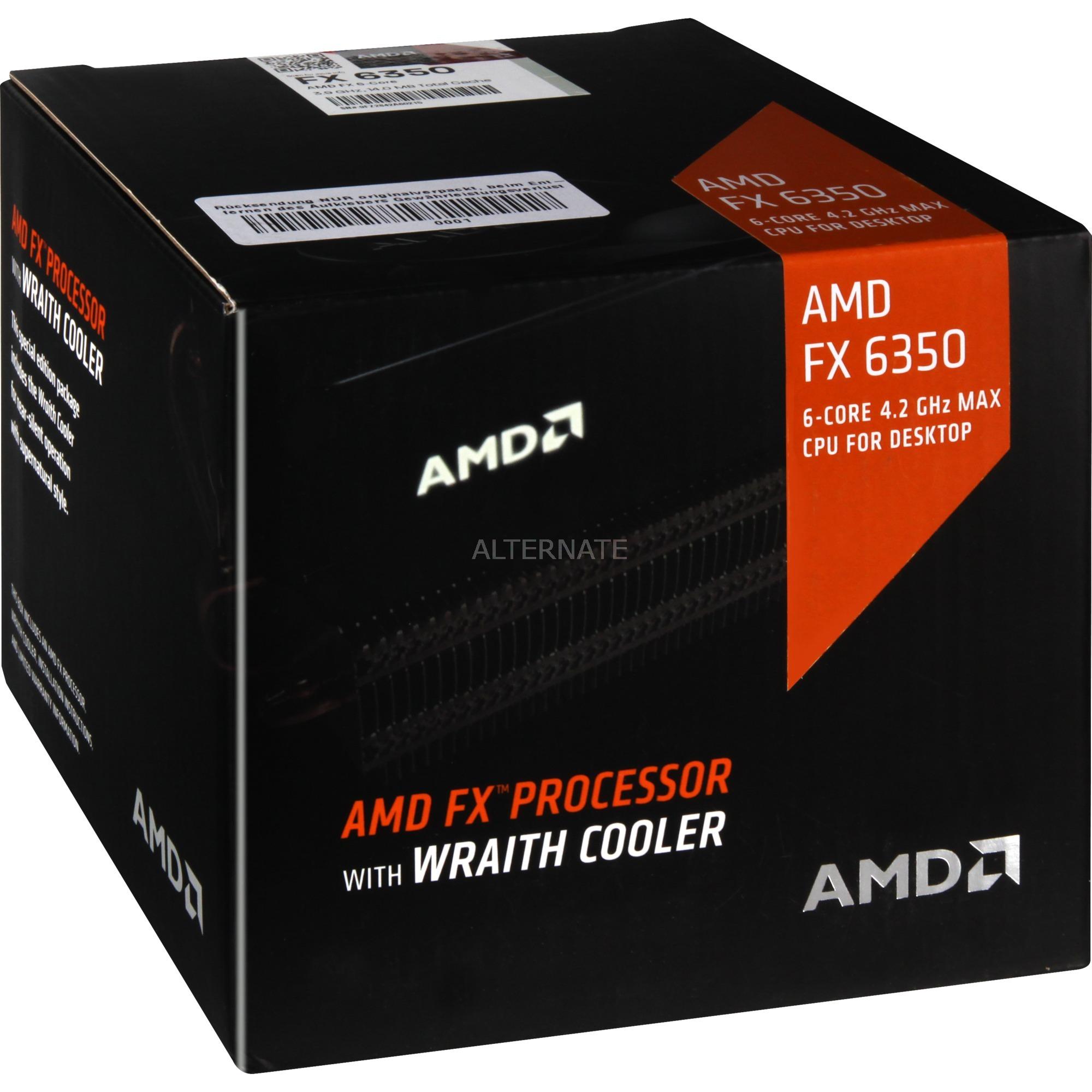 FX 6-Core Black Edition -6350 + Wraith cooler 3.9GHz 6MB L2 Caja procesador