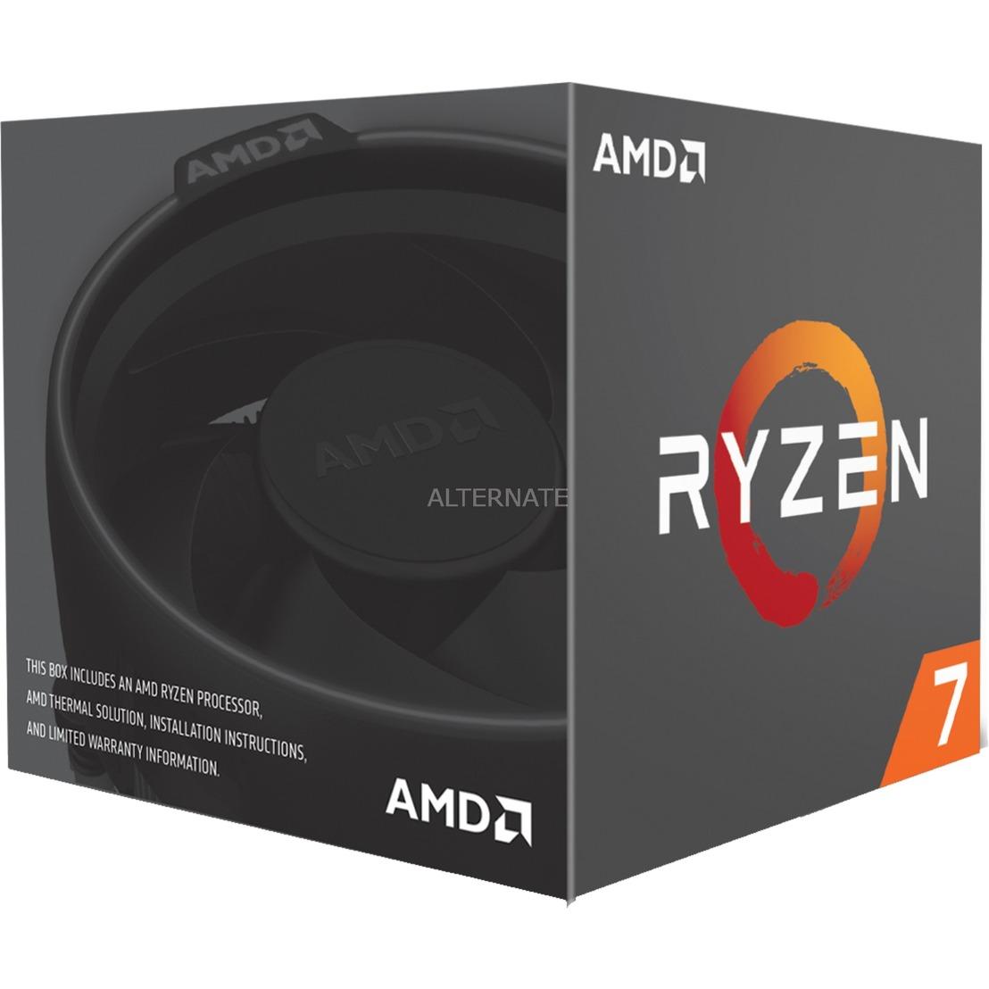 Ryzen 7 2700 WRAITH 3200 AM4 BOX 3,2 Ghz, Procesador