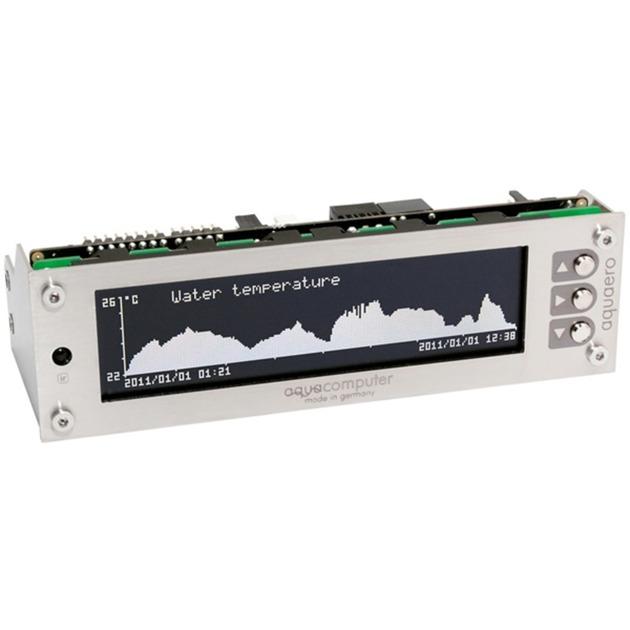 53145 controlador de velocidad de ventilador Acero inoxidable LCD, Control del ventilador