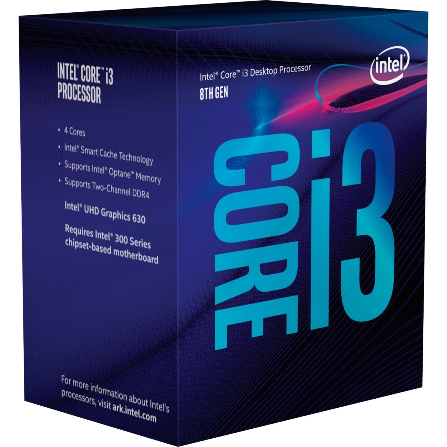 Core i3-8100 Processor (6M Cache, 3.60 GHz) 3.6GHz 6MB Smart Cache Caja procesador