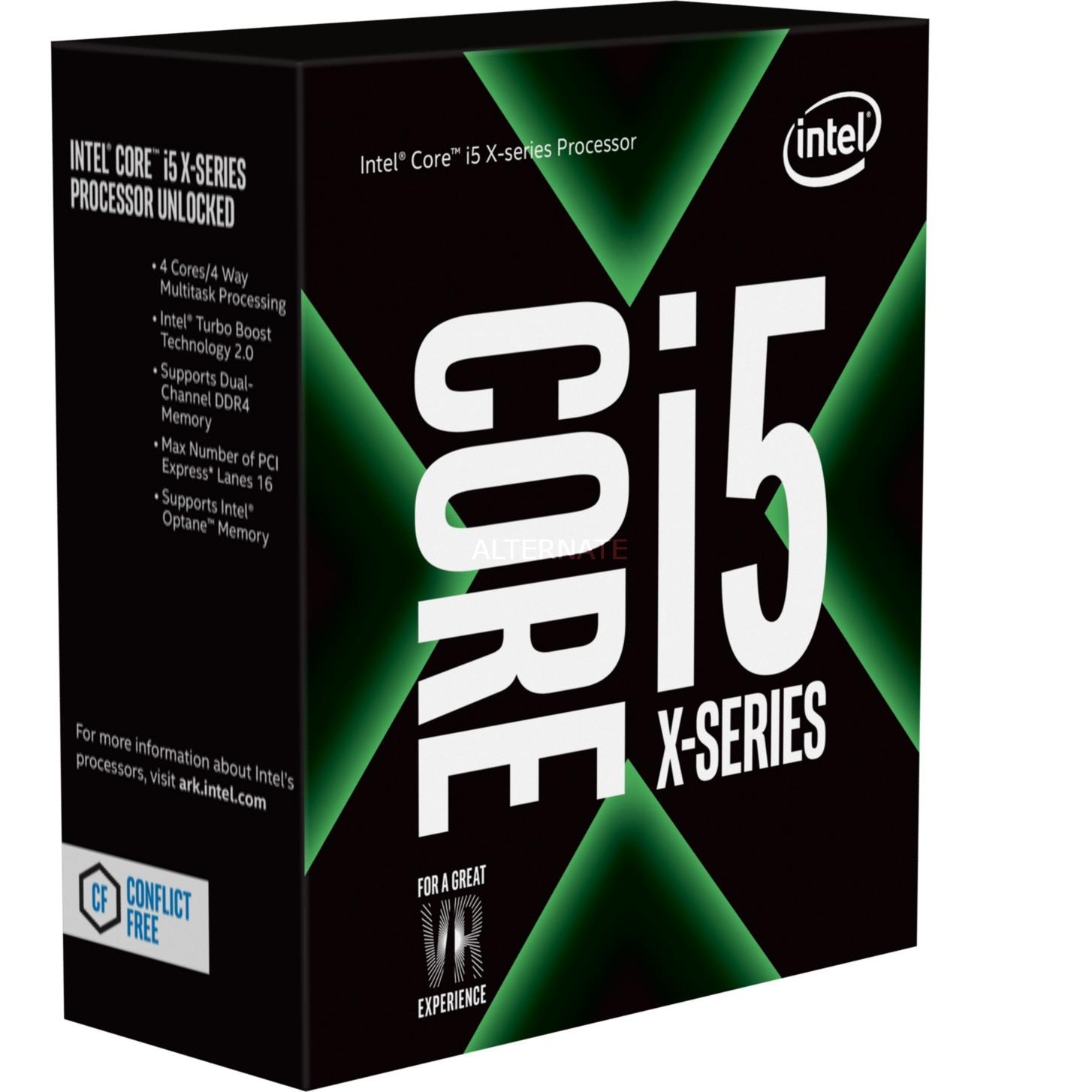 Core i5-7640X X-series Processor (6M Cache, up to 4.20 GHz) 4GHz 6MB Smart Cache Caja procesador