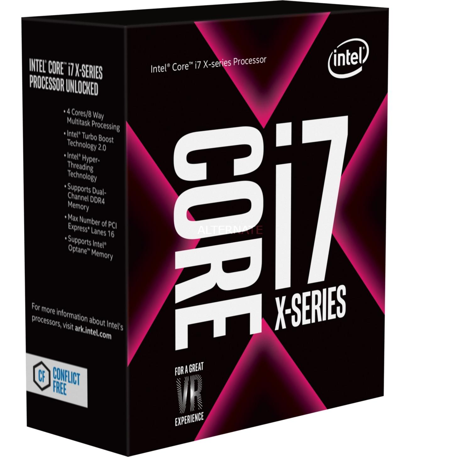 Core i7-7740X X-series Processor (8M Cache, up to 4.50 GHz) 4.3GHz 8MB Smart Cache Caja procesador