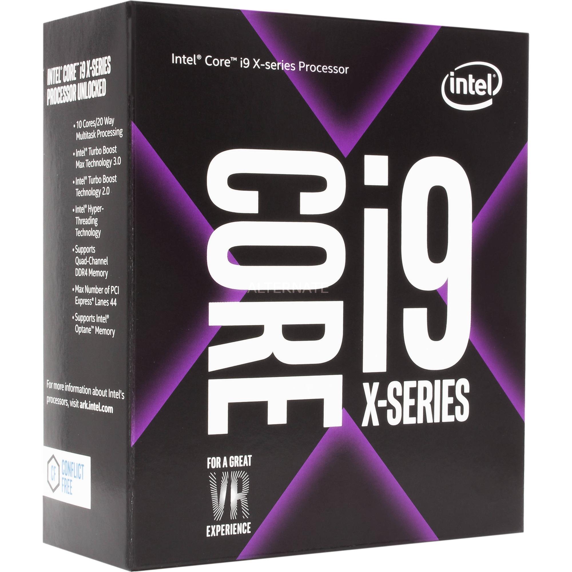 Core i9-7920X X-series Processor (16.50M Cache, up to 4.30 GHz) 2.9GHz 16.5MB L3 Caja procesador