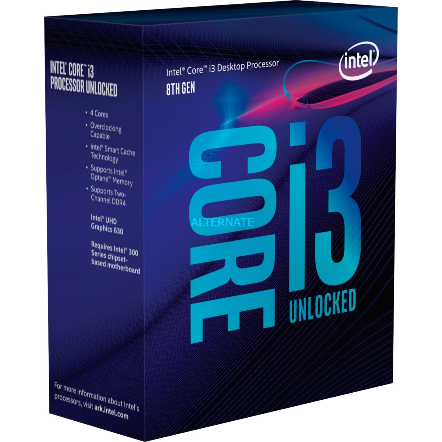 Core i3-8350K procesador 4 GHz Caja 8 MB Smart Cache