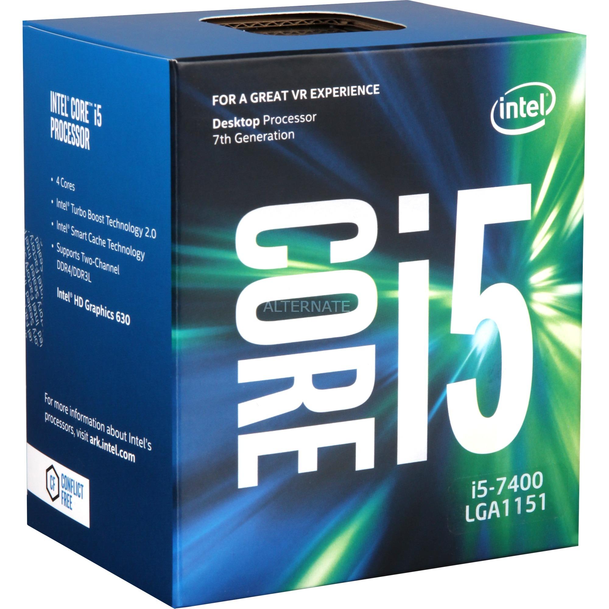 Core i5-7400, Procesador