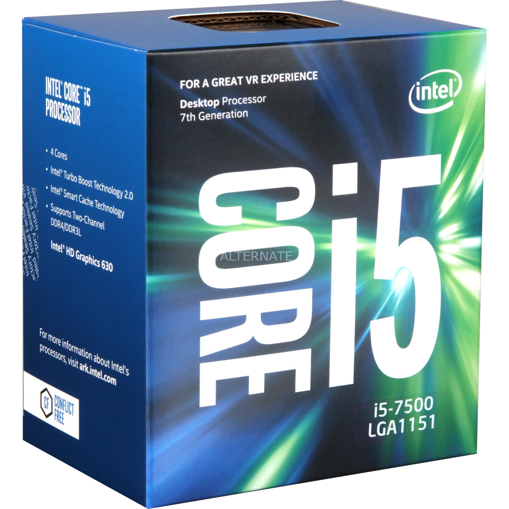 Core i5-7500, Procesador