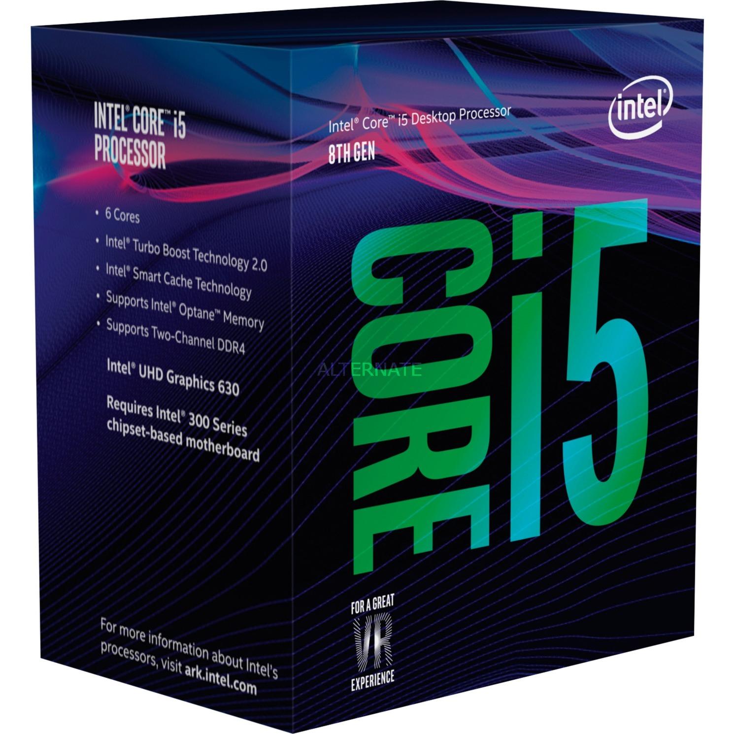 Core i5-8600 procesador 3,1 GHz Caja 9 MB Smart Cache
