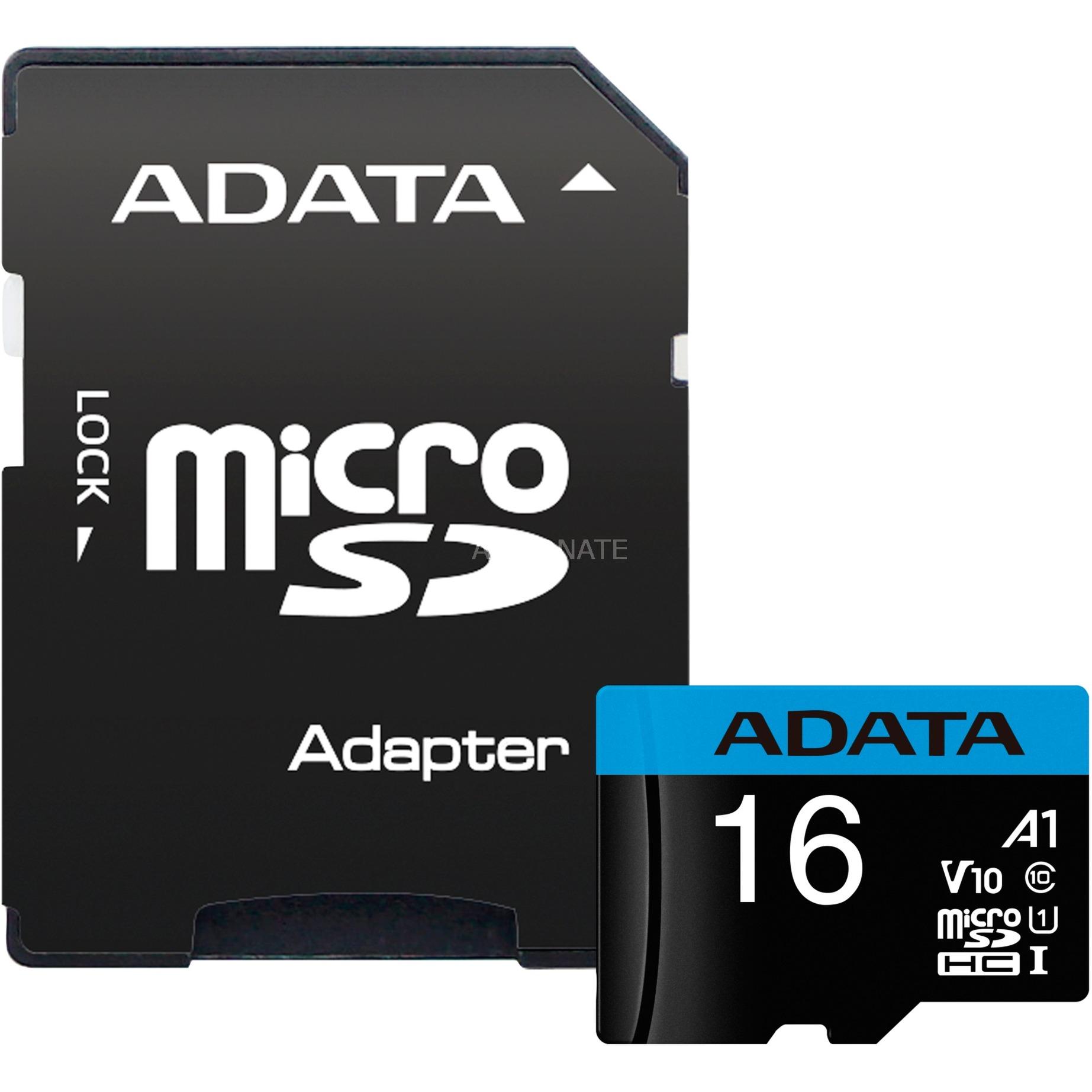 16GB, microSDHC, Class 10 memoria flash Clase 10 UHS-I, Tarjeta de memoria