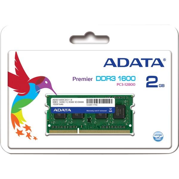 2GB DDR3 - 1600 MHz 2GB DDR3 1600MHz módulo de memoria, Memoria RAM