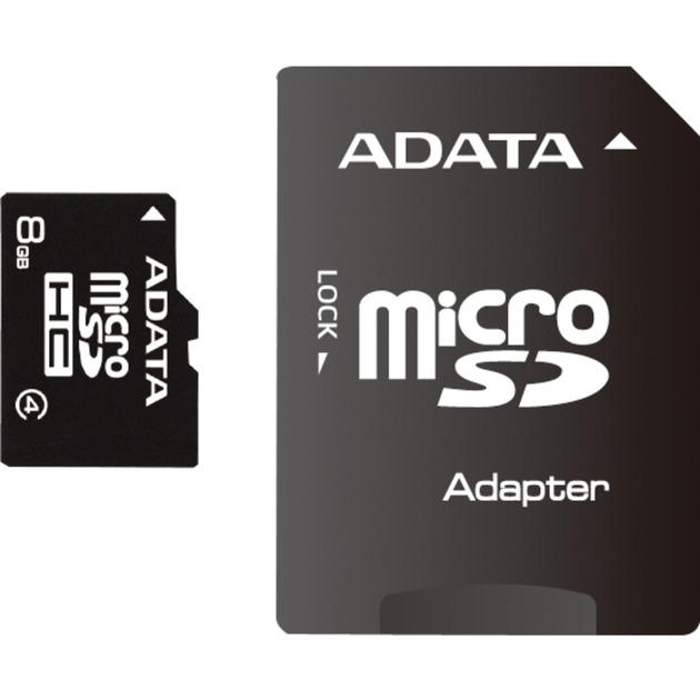8GB MicroSDHC Class 4 memoria flash, Tarjeta de memoria