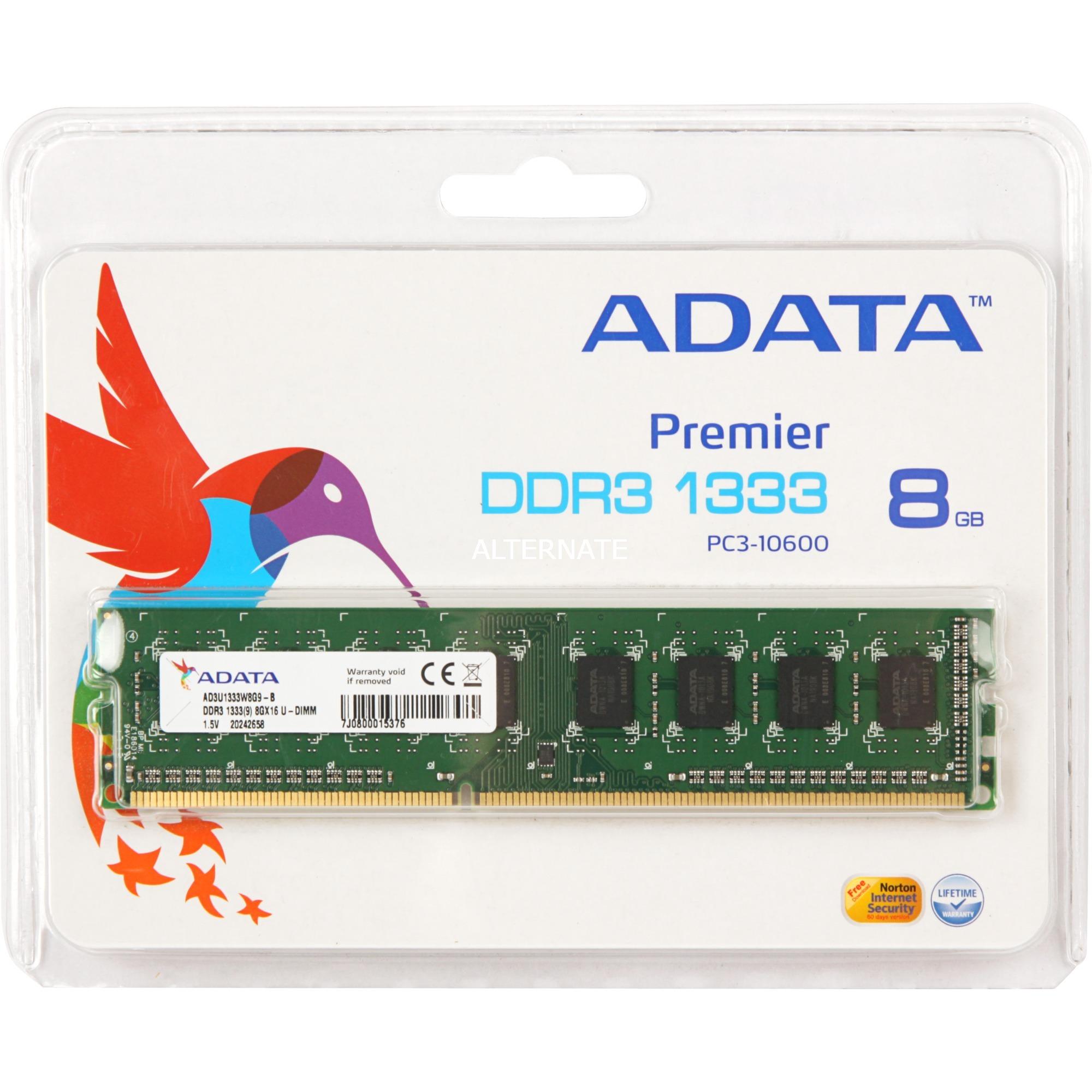 AD3U1333W8G9-R, Memoria RAM
