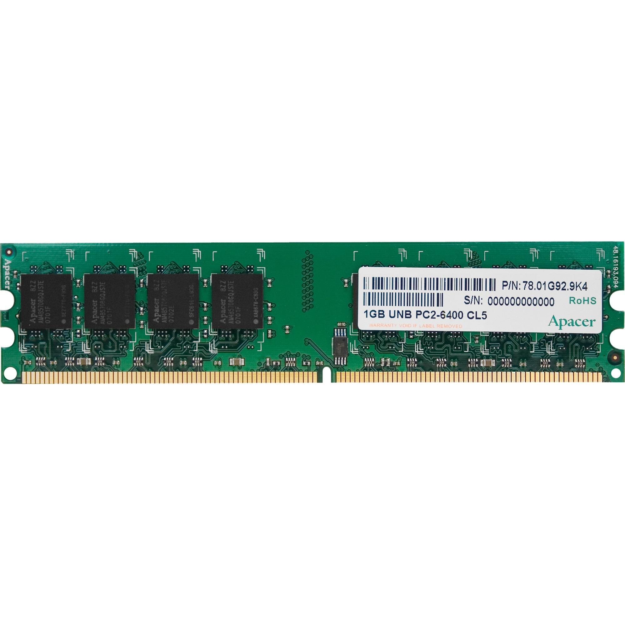 1GB DDR2 DIMM 1GB DDR2 800MHz módulo de memoria, Memoria RAM