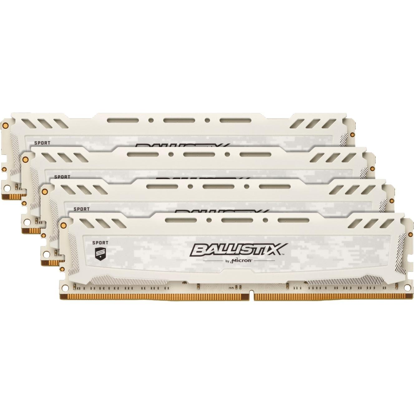 Ballistix Sport LT 16GB DDR4-2666 16GB DDR4 2666MHz módulo de memoria, Memoria RAM
