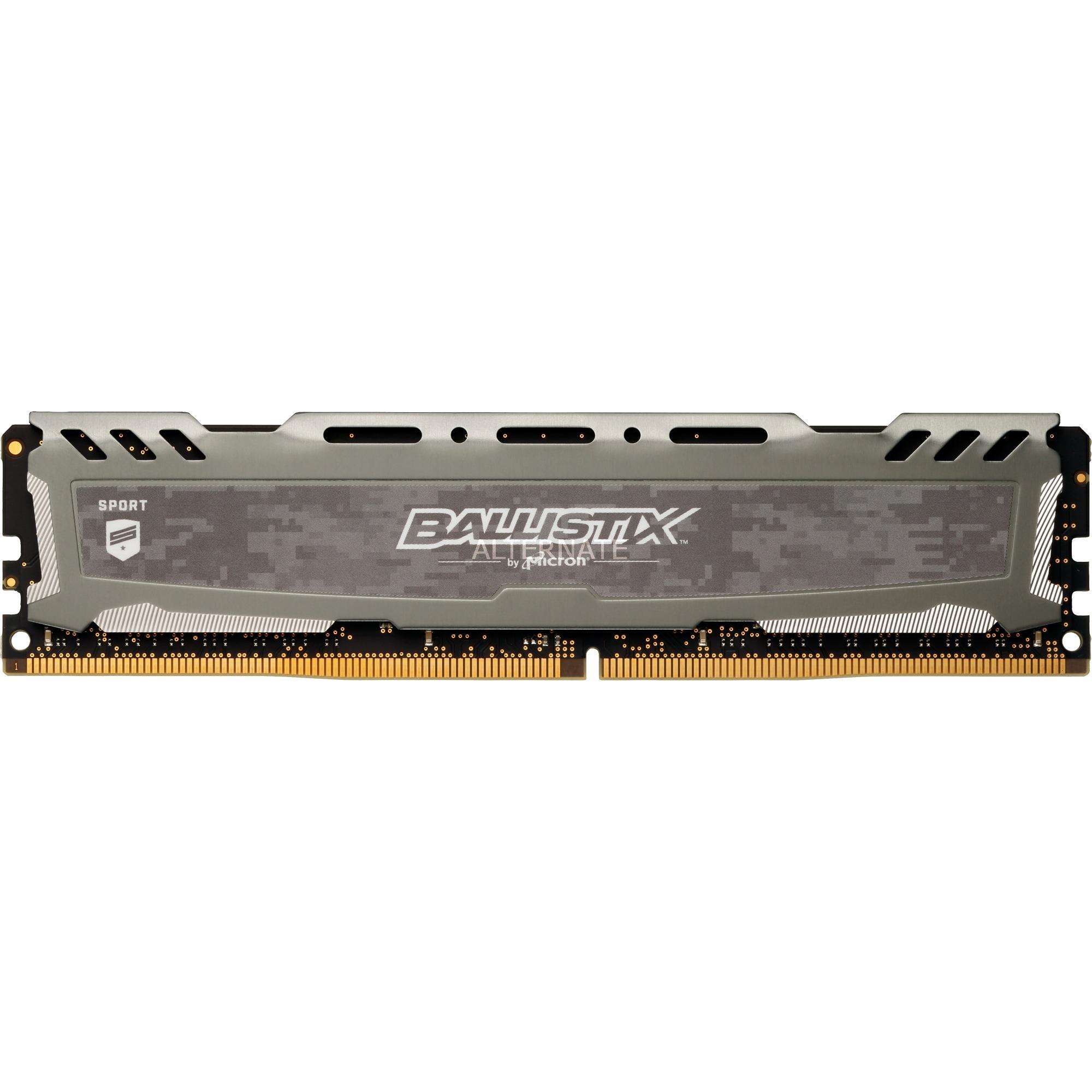 Ballistix Sport LT Gray módulo de memoria 8 GB DDR4 3000 MHz, Memoria RAM