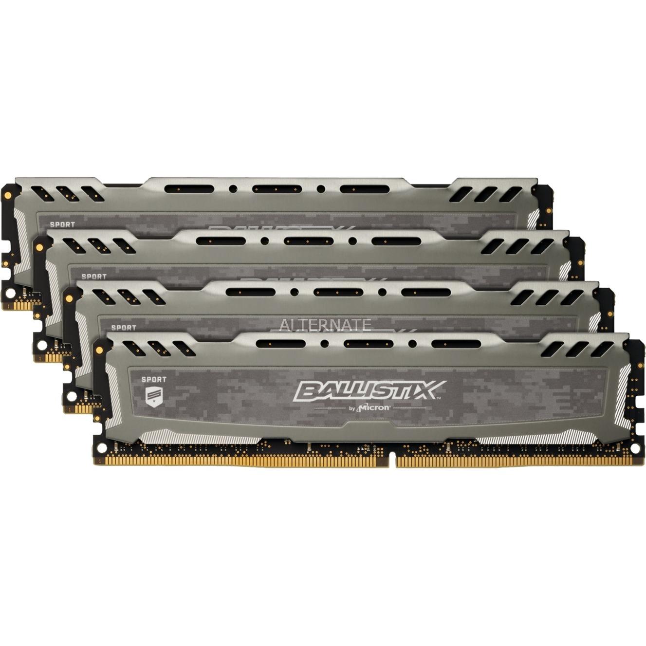 Ballistix Sport LT módulo de memoria 16 GB DDR4 2666 MHz, Memoria RAM