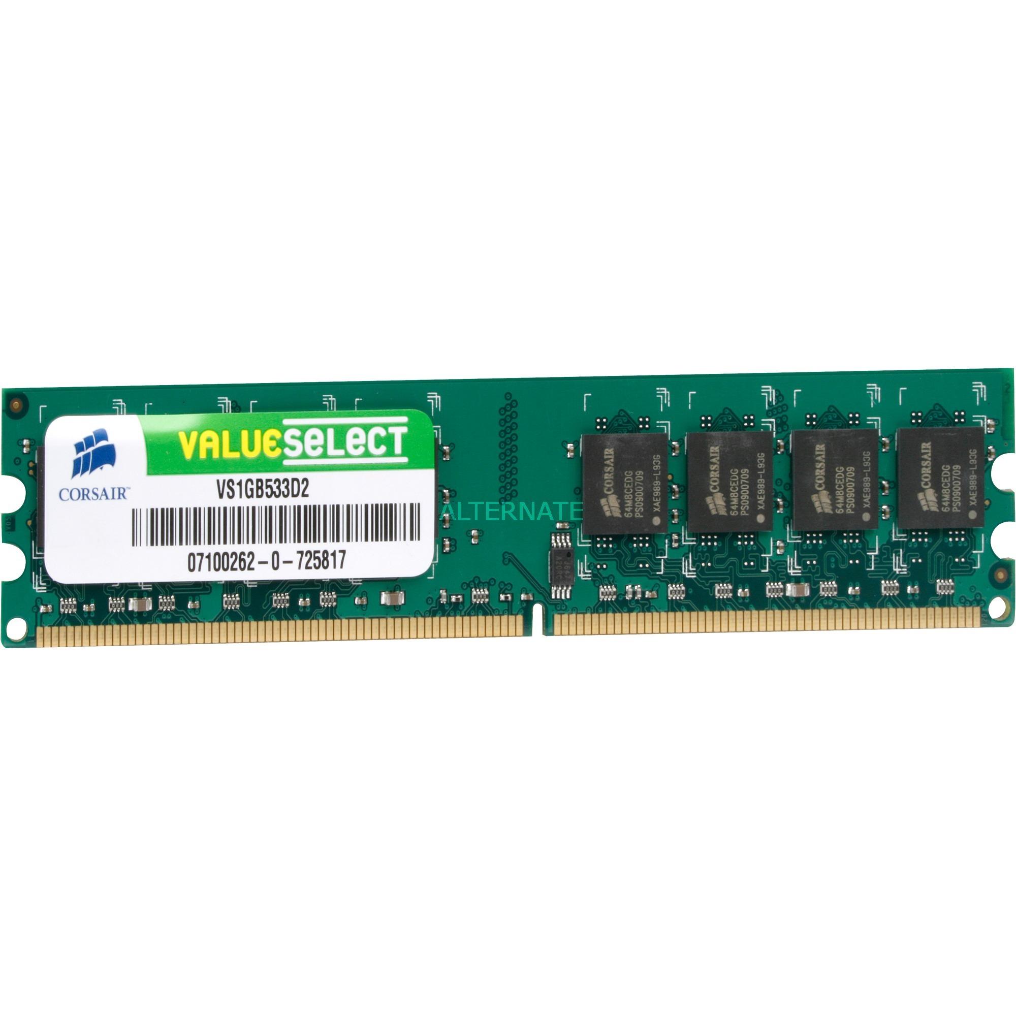1GB DDR2 SDRAM DIMM módulo de memoria 533 MHz, Memoria RAM