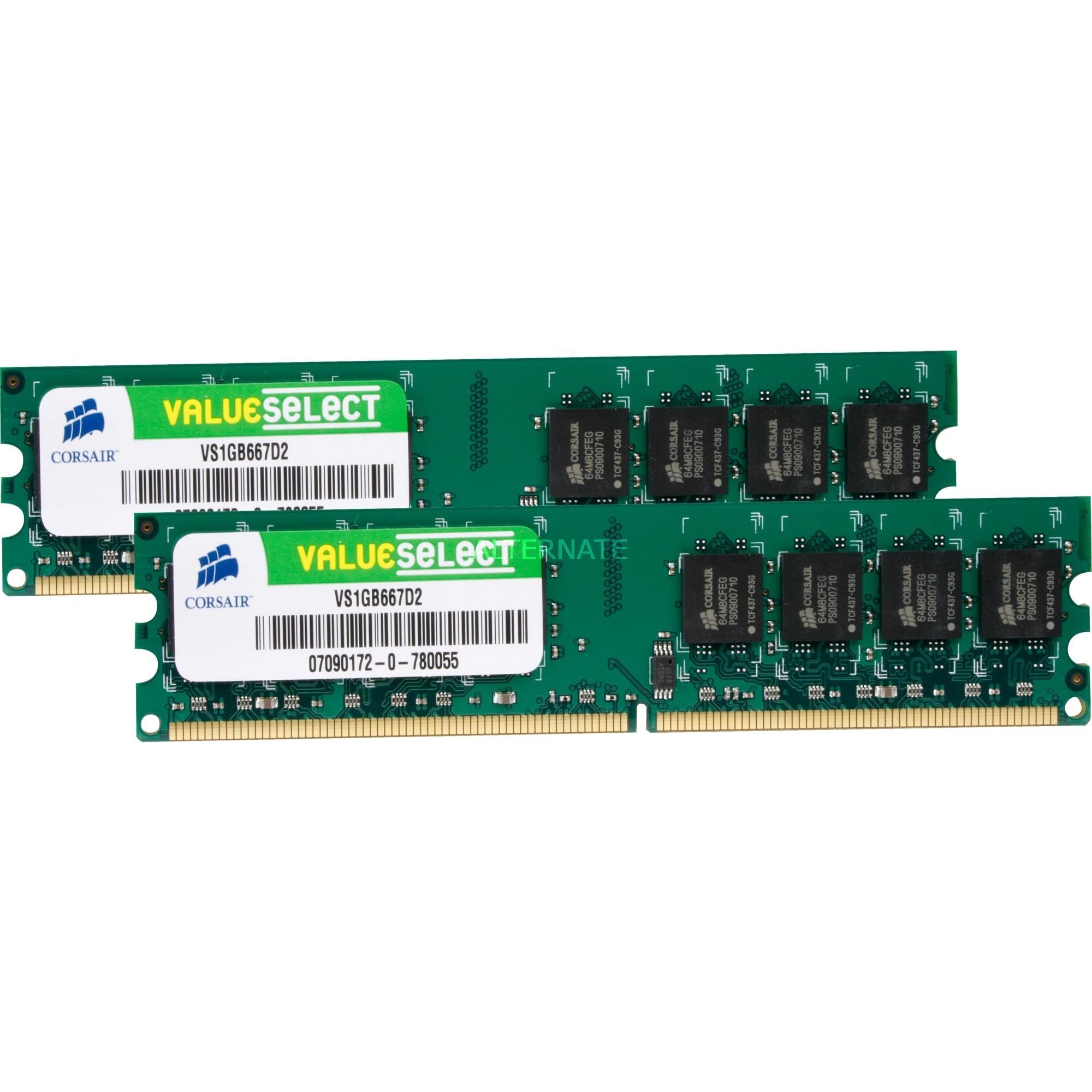 2GB DDR2 SDRAM DIMMs módulo de memoria 667 MHz, Memoria RAM