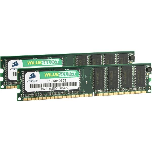 2GB PC3200 SDRAM DIMMs módulo de memoria DDR 400 MHz, Memoria RAM