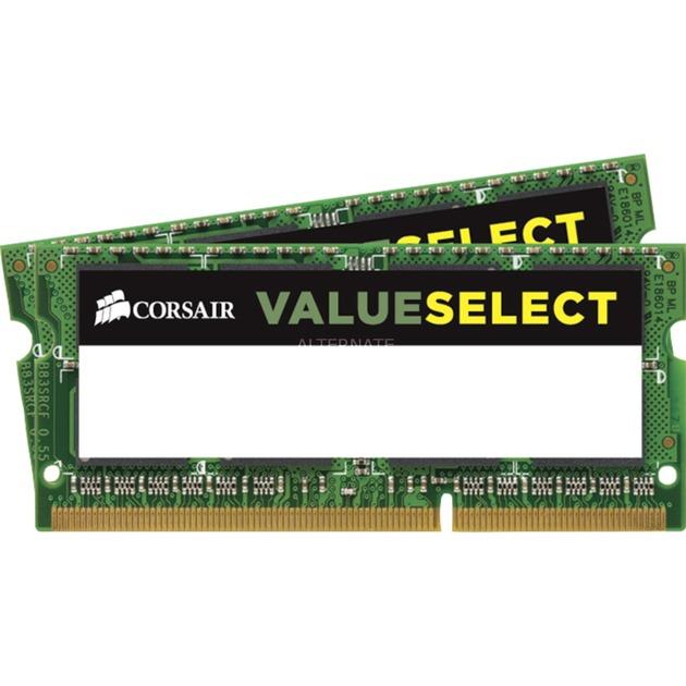 2x 4GB, DDR3L, 1600MHz 8GB DDR3 1600MHz módulo de memoria, Memoria RAM