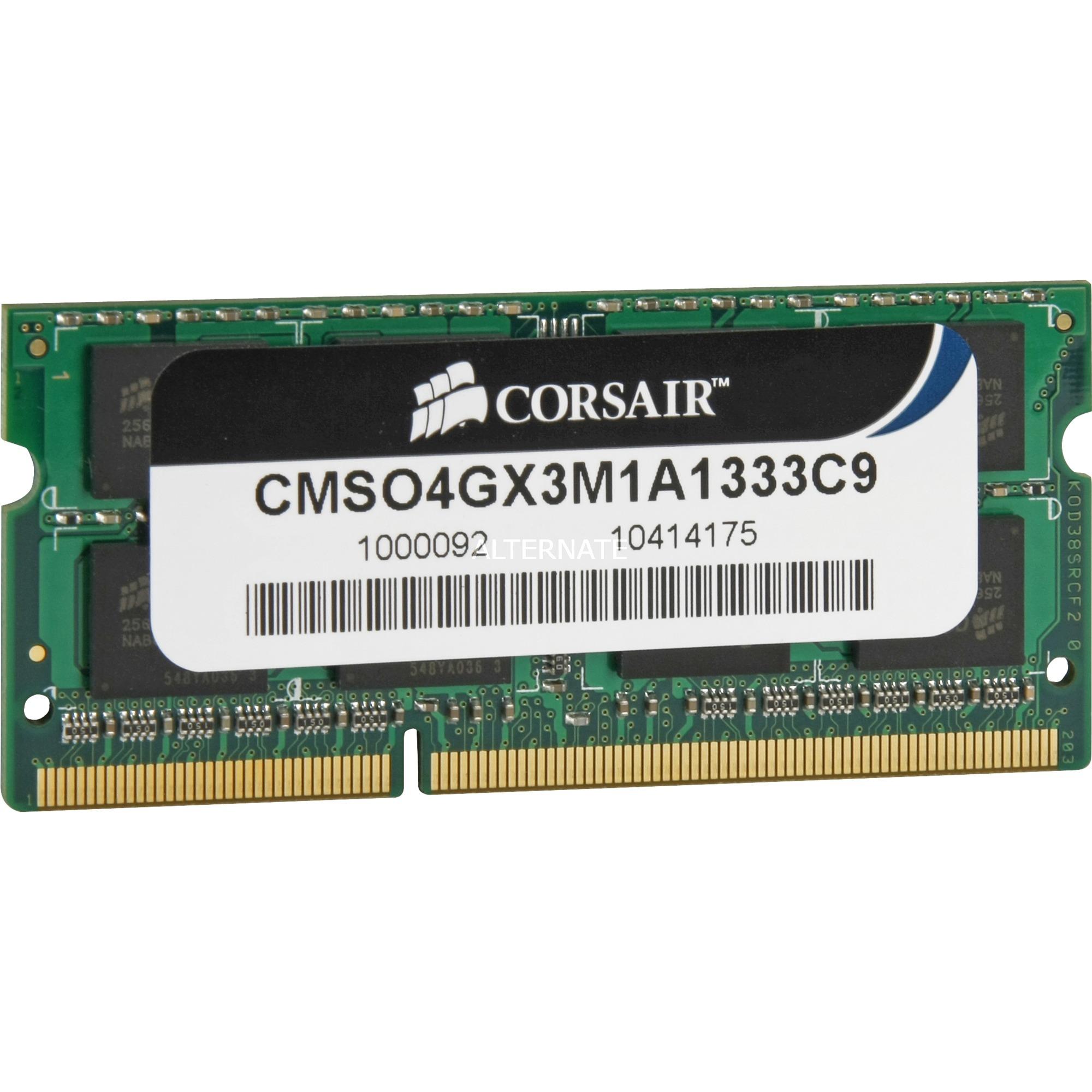 4GB DDR3 módulo de memoria 1333 MHz, Memoria RAM