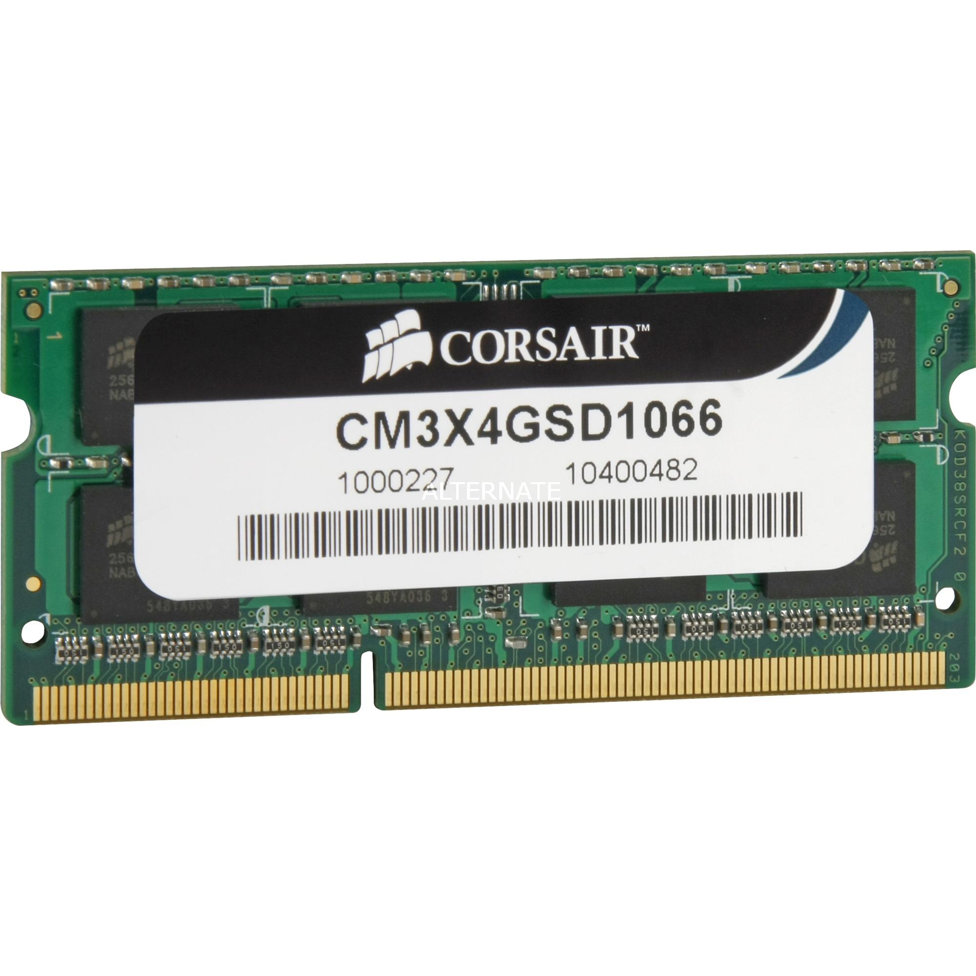 4 GB Memory Module DDR3 1066MHz módulo de memoria, Memoria RAM