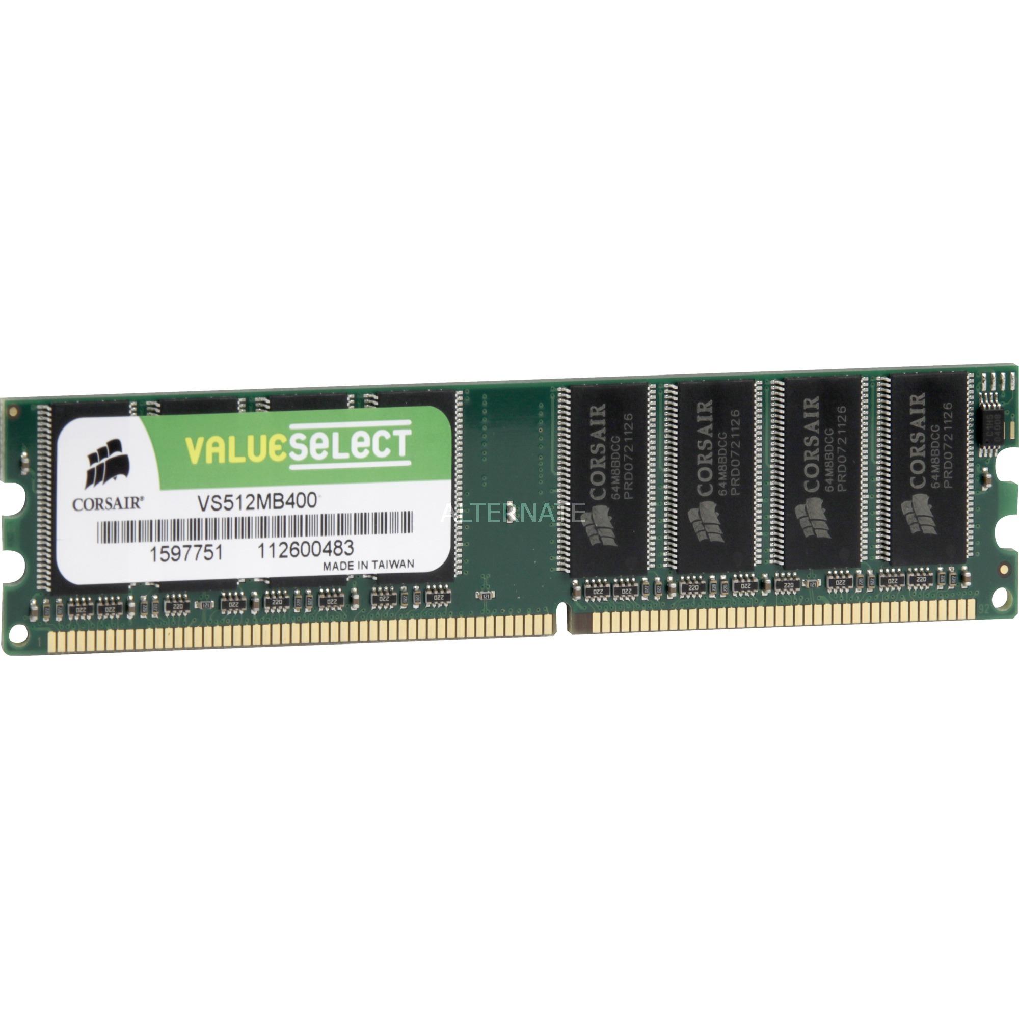 512MB PC3200 SDRAM DIMM módulo de memoria 0,5 GB DDR 400 MHz, Memoria RAM