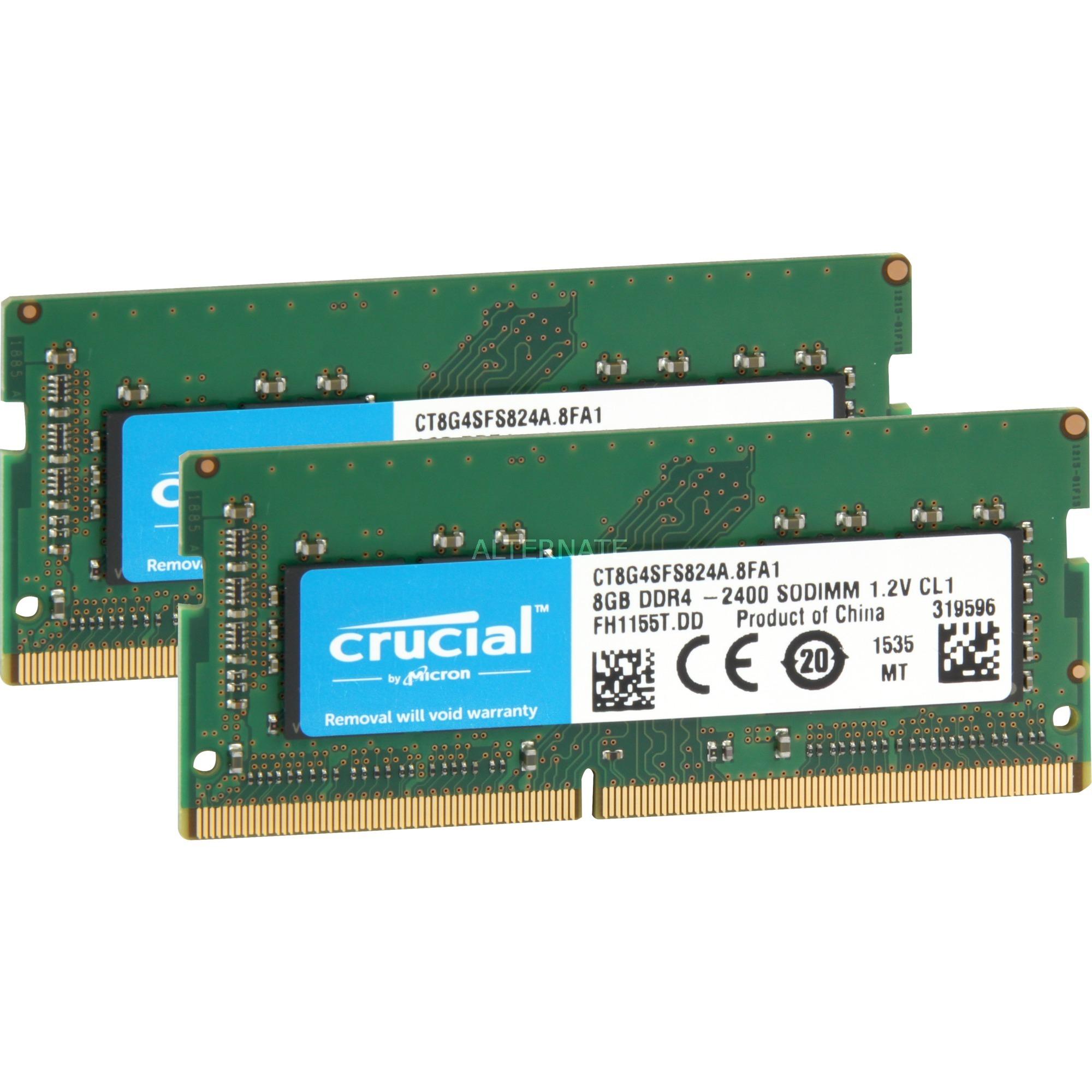 16GB (2x8GB) DDR4 2400 SODIMM 1.2V módulo de memoria 2400 MHz, Memoria RAM