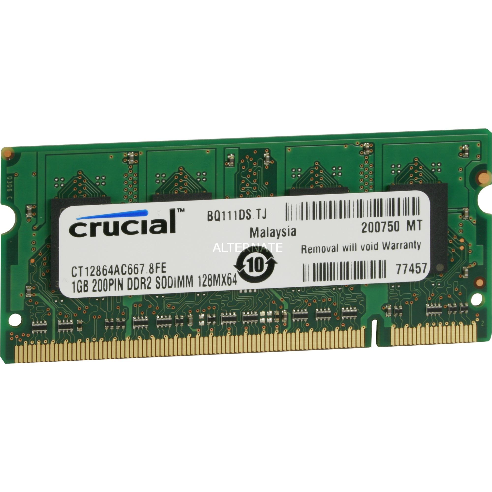 2GB DDR2 SODIMM módulo de memoria 667 MHz, Memoria RAM