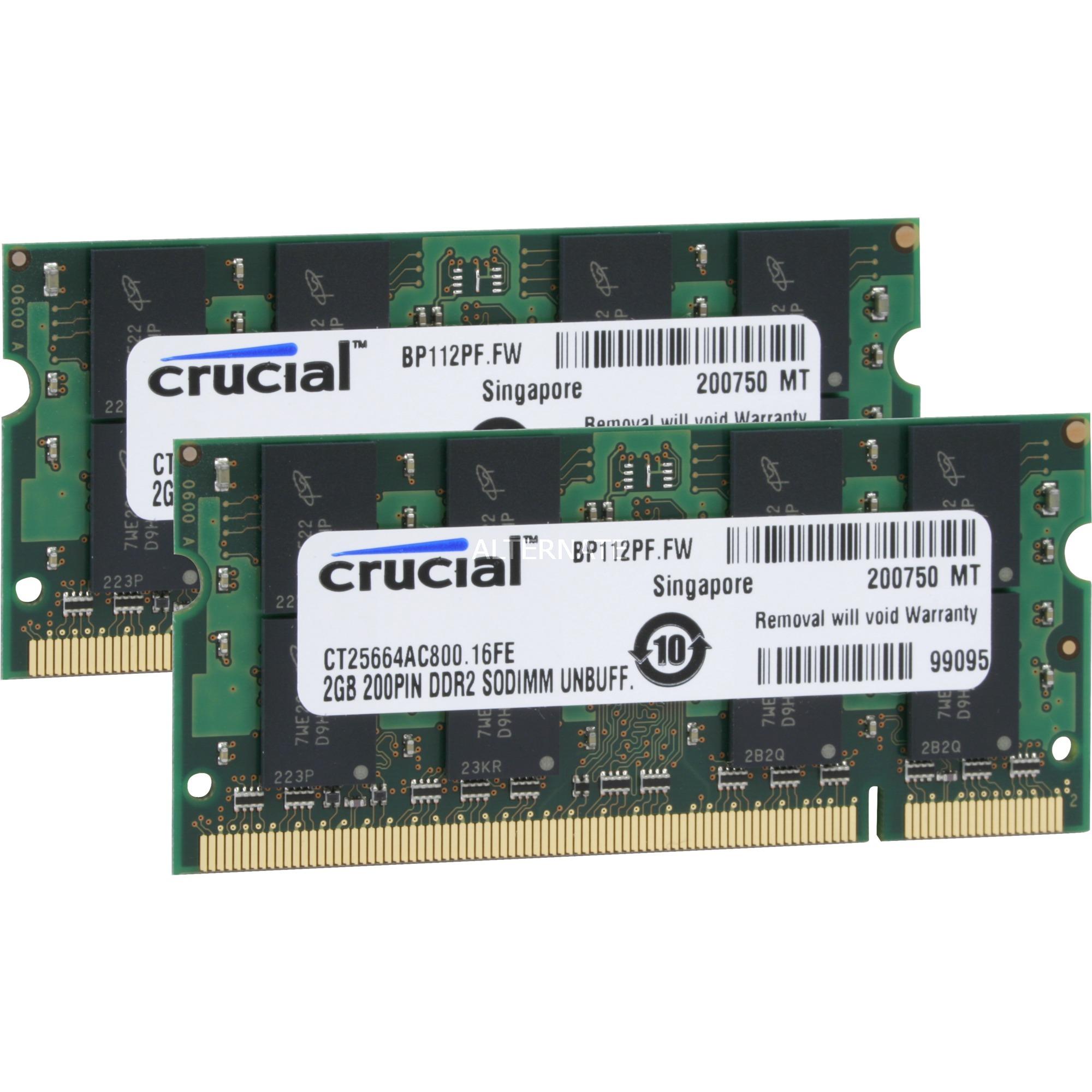 4GB DDR2 SODIMM 4GB DDR2 800MHz módulo de memoria, Memoria RAM