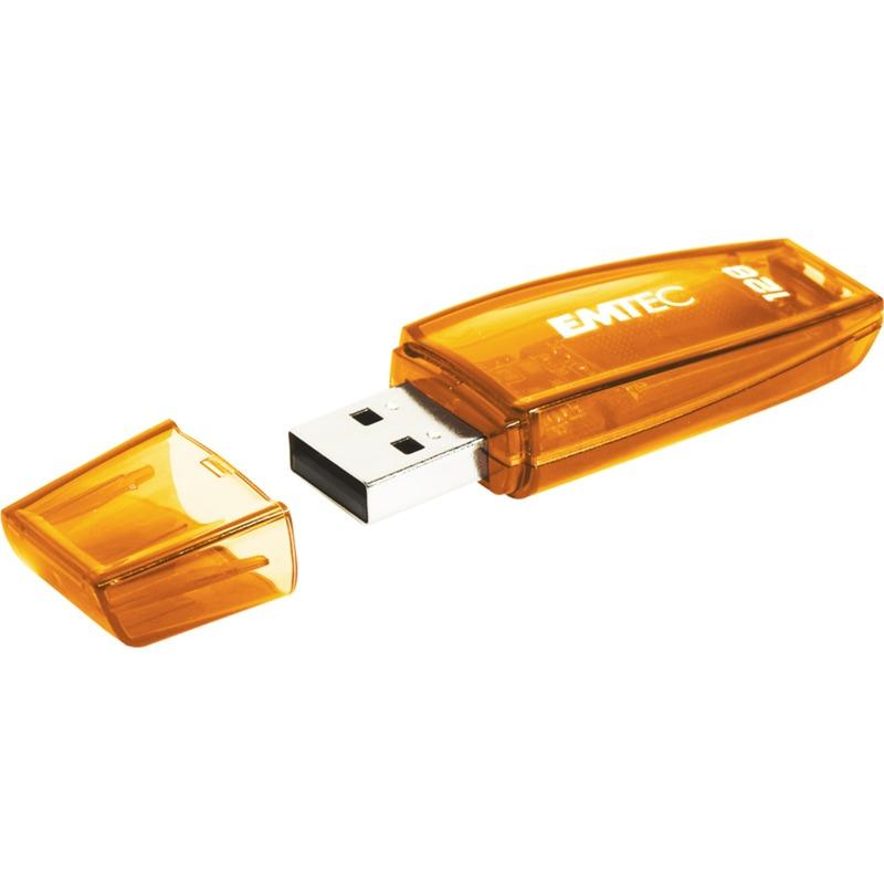 C410 unidad flash USB 128 GB USB tipo A 2.0 Naranja, Lápiz USB