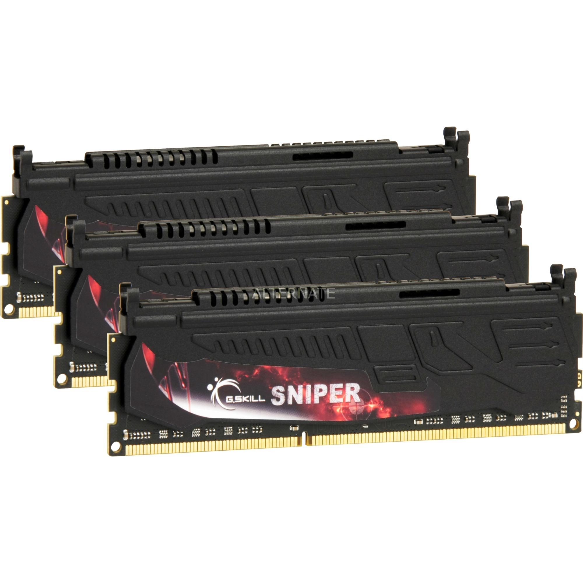 12GB DDR3-1600 SNIPER 12GB DDR3 1066MHz módulo de memoria, Memoria RAM
