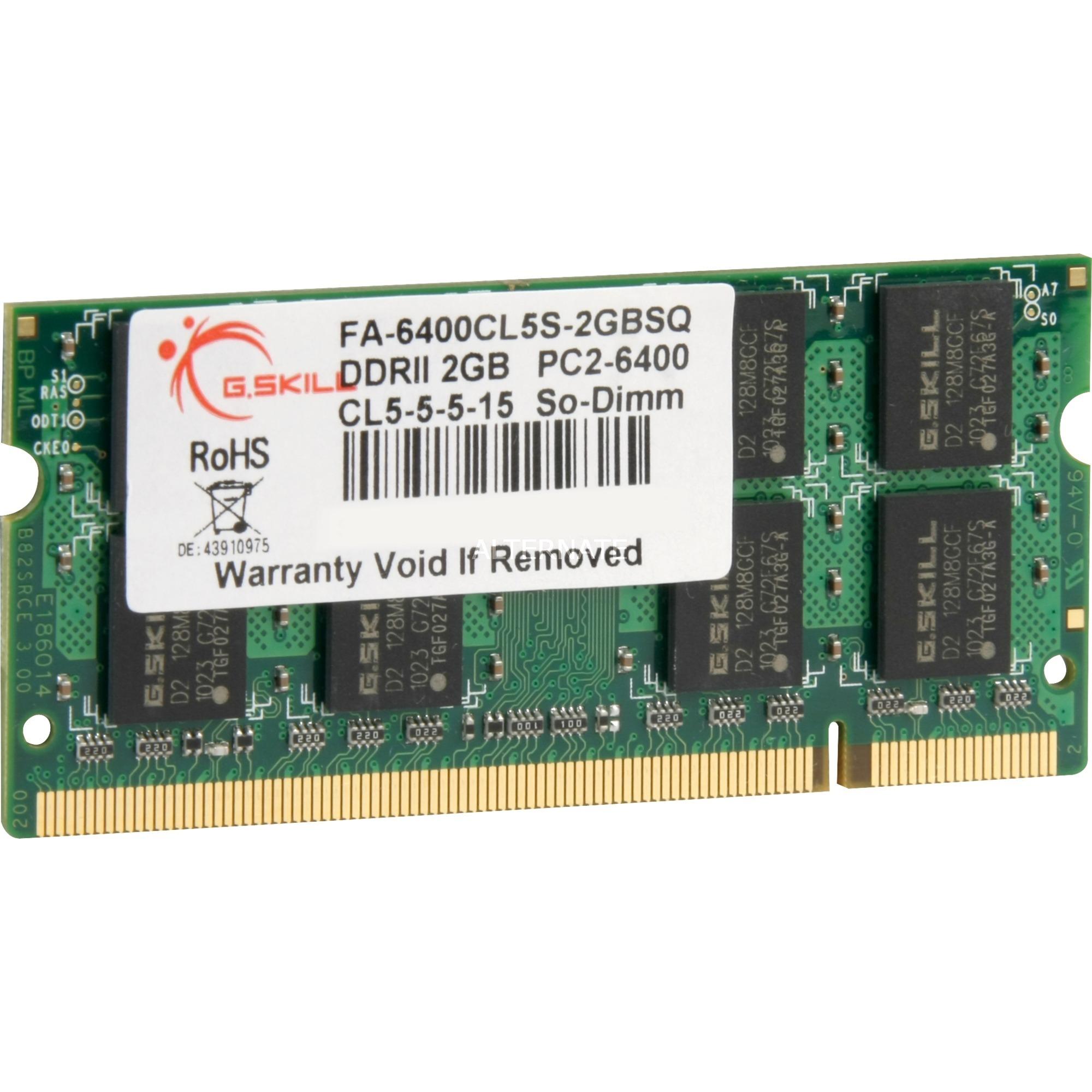 2GB DDR2-800 SQ MAC módulo de memoria 800 MHz, Memoria RAM