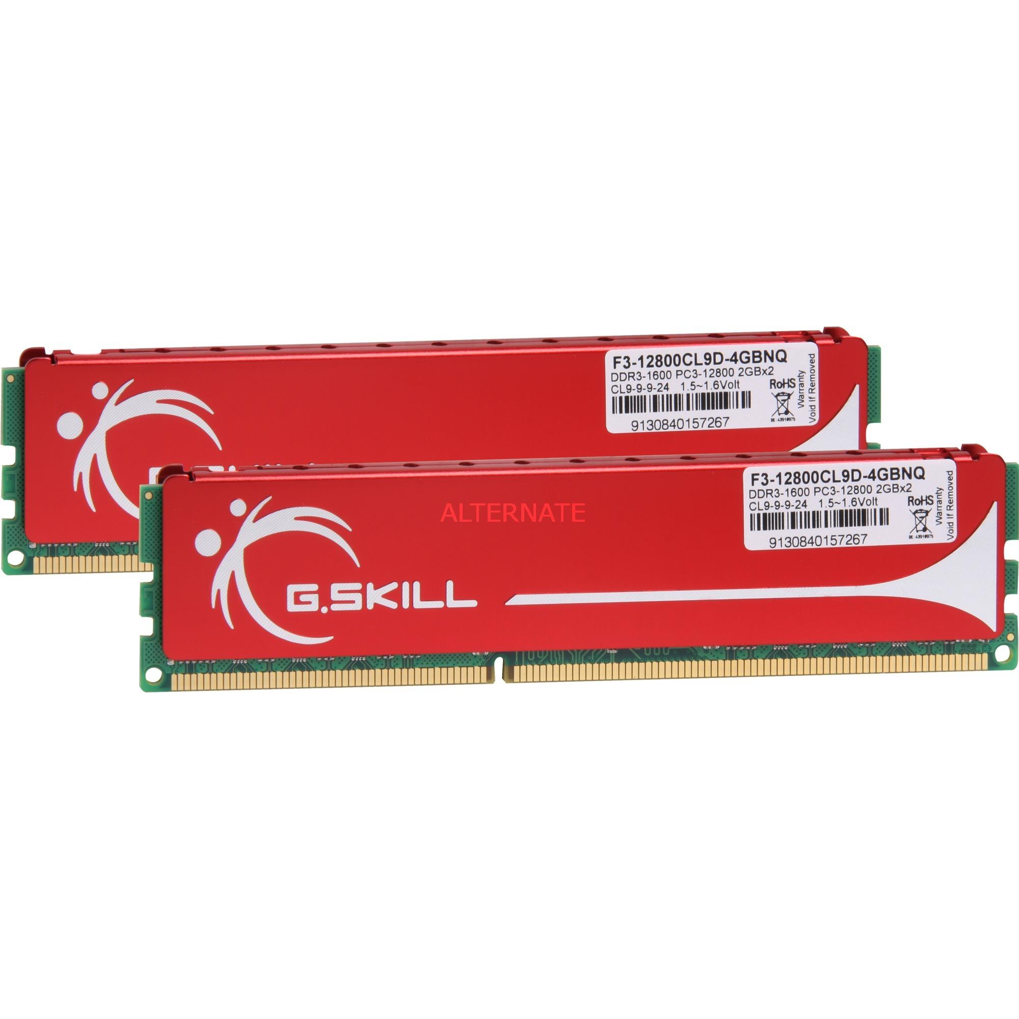 4GB DDR3 PC-12800 CL9 4GB DDR3 1600MHz módulo de memoria, Memoria RAM