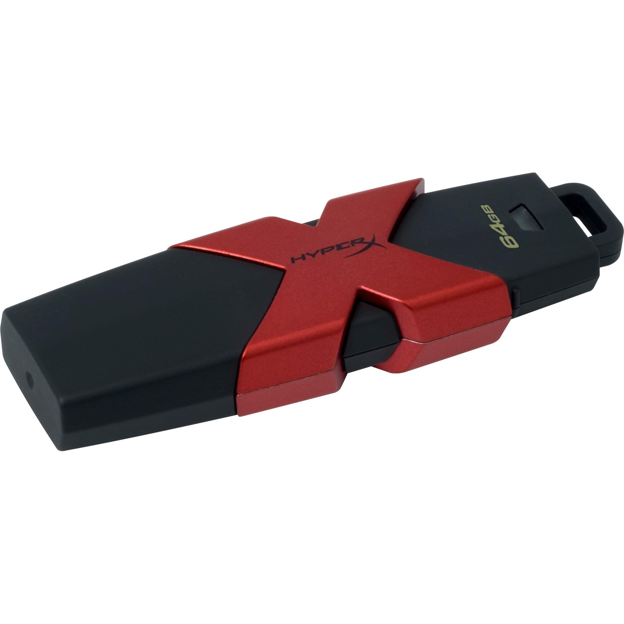 64GB unidad flash USB USB tipo A 3.0 (3.1 Gen 1) Negro, Rojo, Lápiz USB