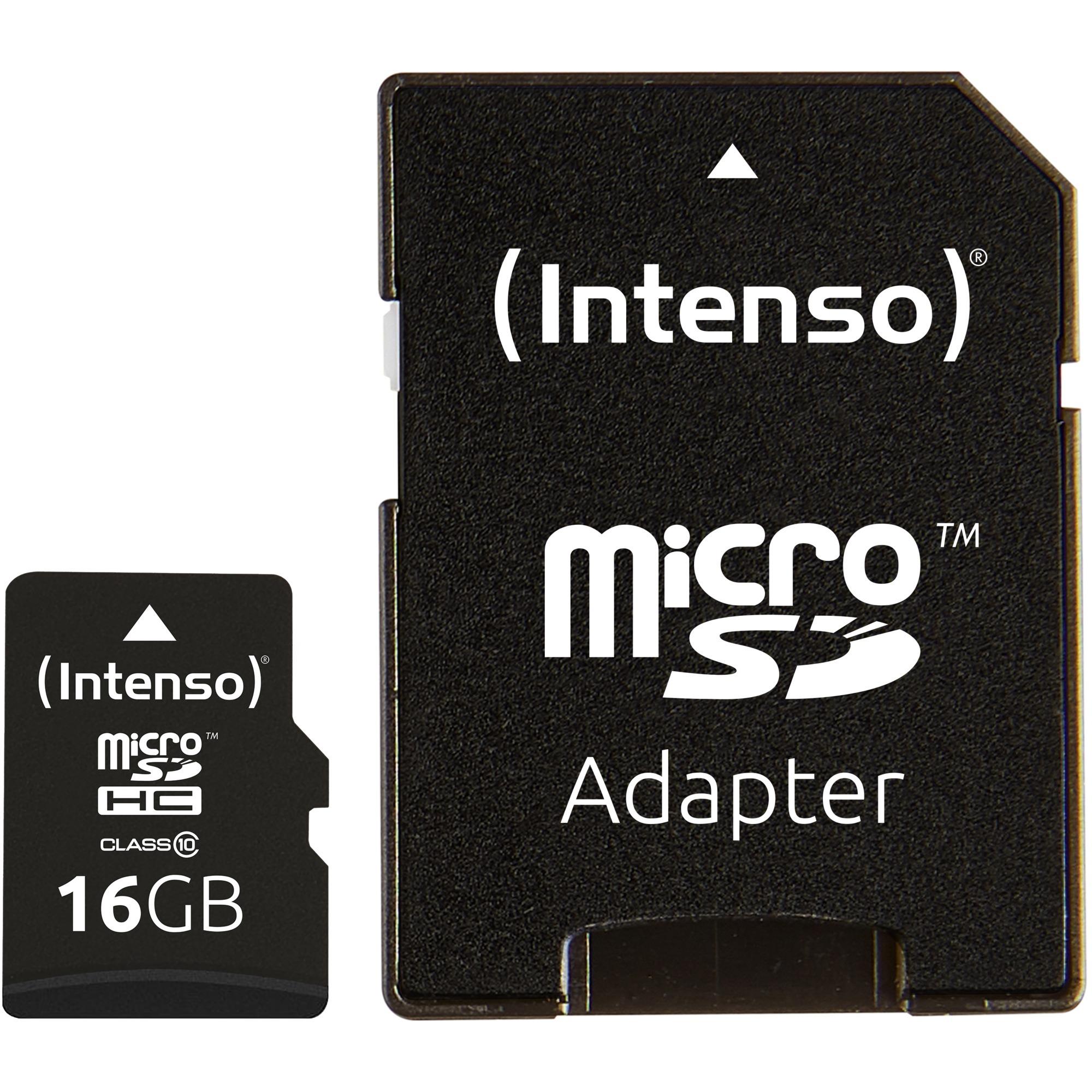 16GB MicroSDHC 16GB MicroSDHC Clase 10 memoria flash, Tarjeta de memoria