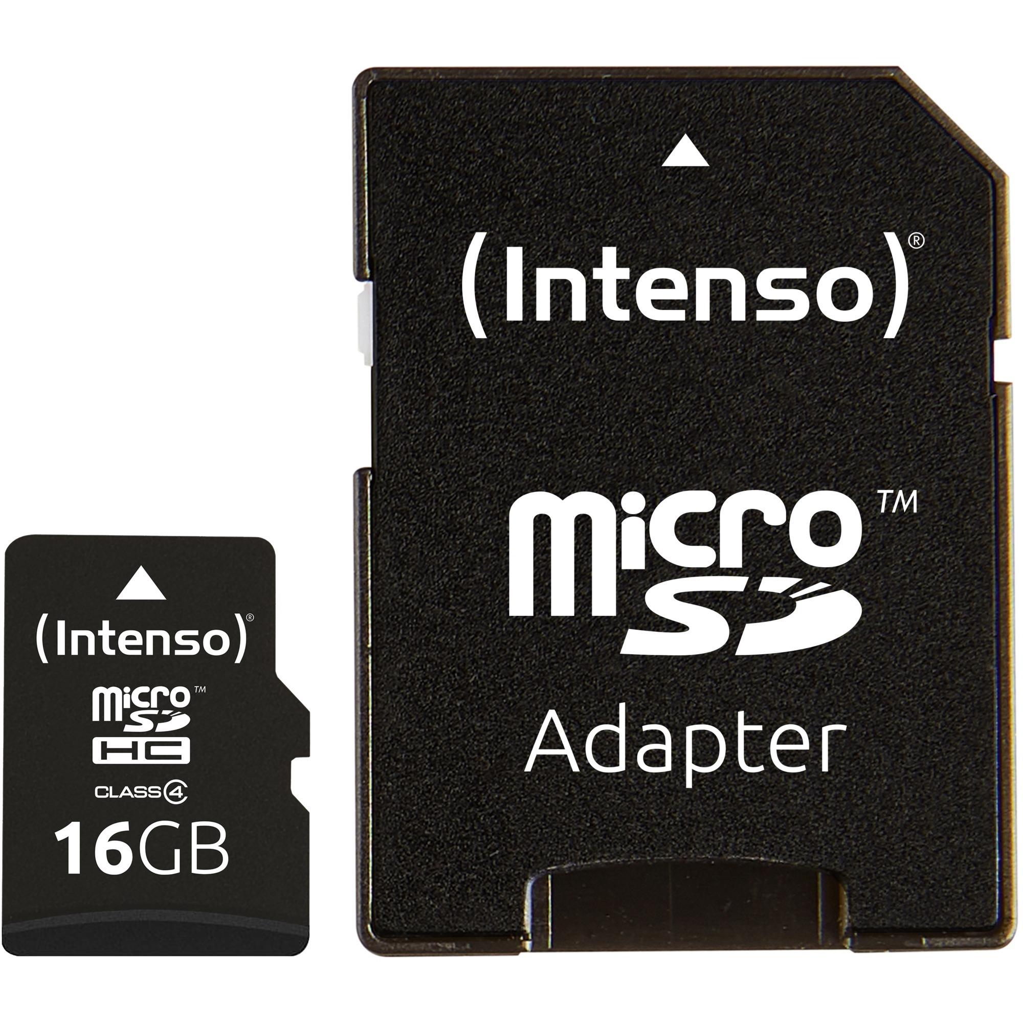 16GB Micro SDHC Class 4 memoria flash MicroSDHC Clase 4, Tarjeta de memoria