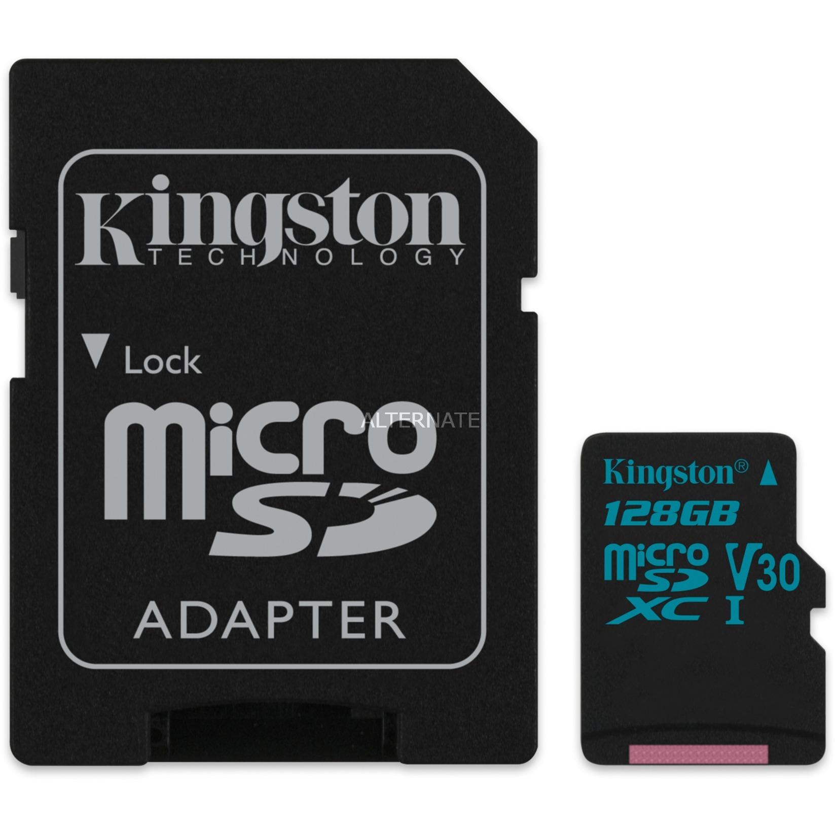 Canvas Go! 128GB MicroSDXC UHS-I Clase 10 memoria flash, Tarjeta de memoria