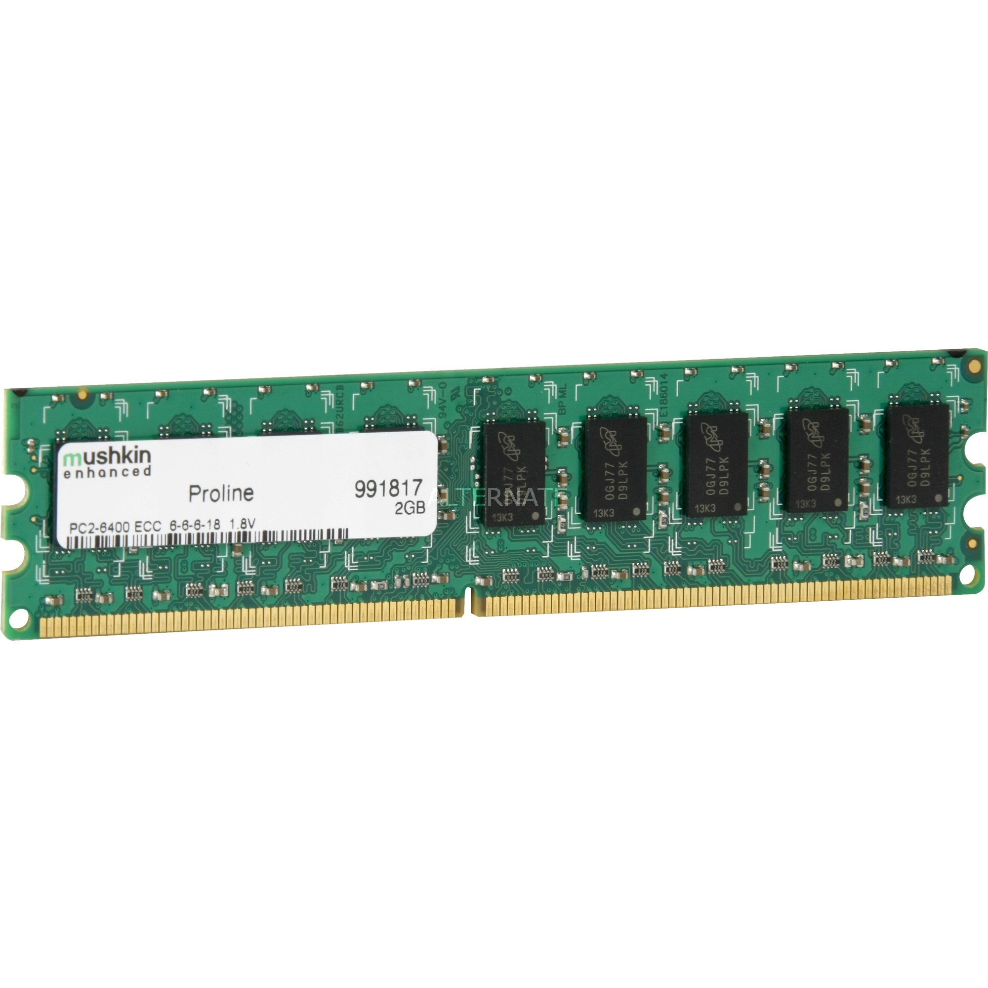2GB PC2-6400 2GB DDR2 800MHz ECC módulo de memoria, Memoria RAM