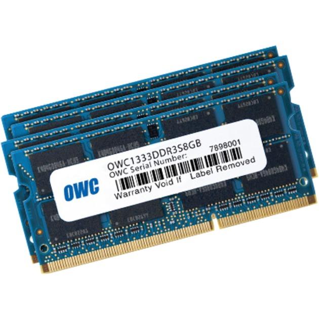 4x 8GB, 1333MHz, DDR3, PC10600 32GB DDR3 1333MHz módulo de memoria, Memoria RAM